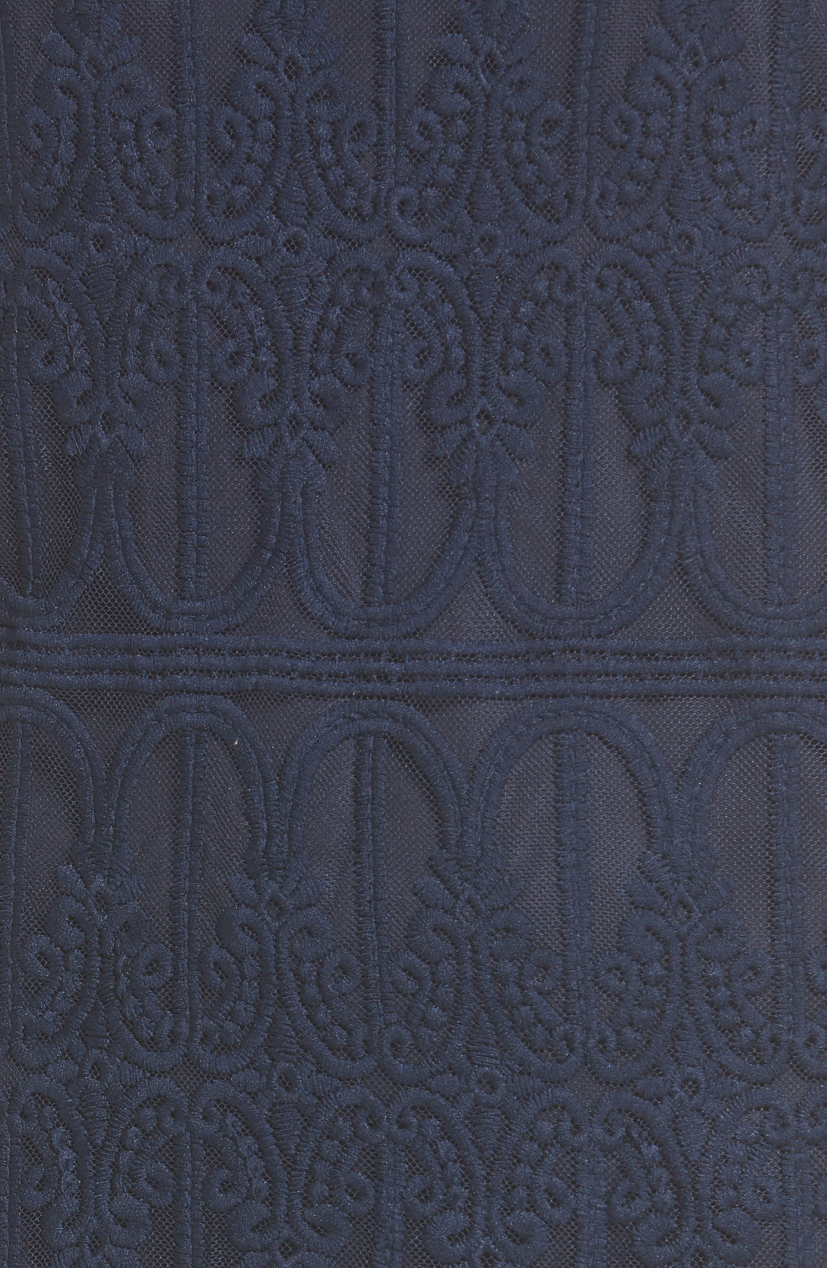Cross Back Lace Dress,                             Alternate thumbnail 5, color,                             410