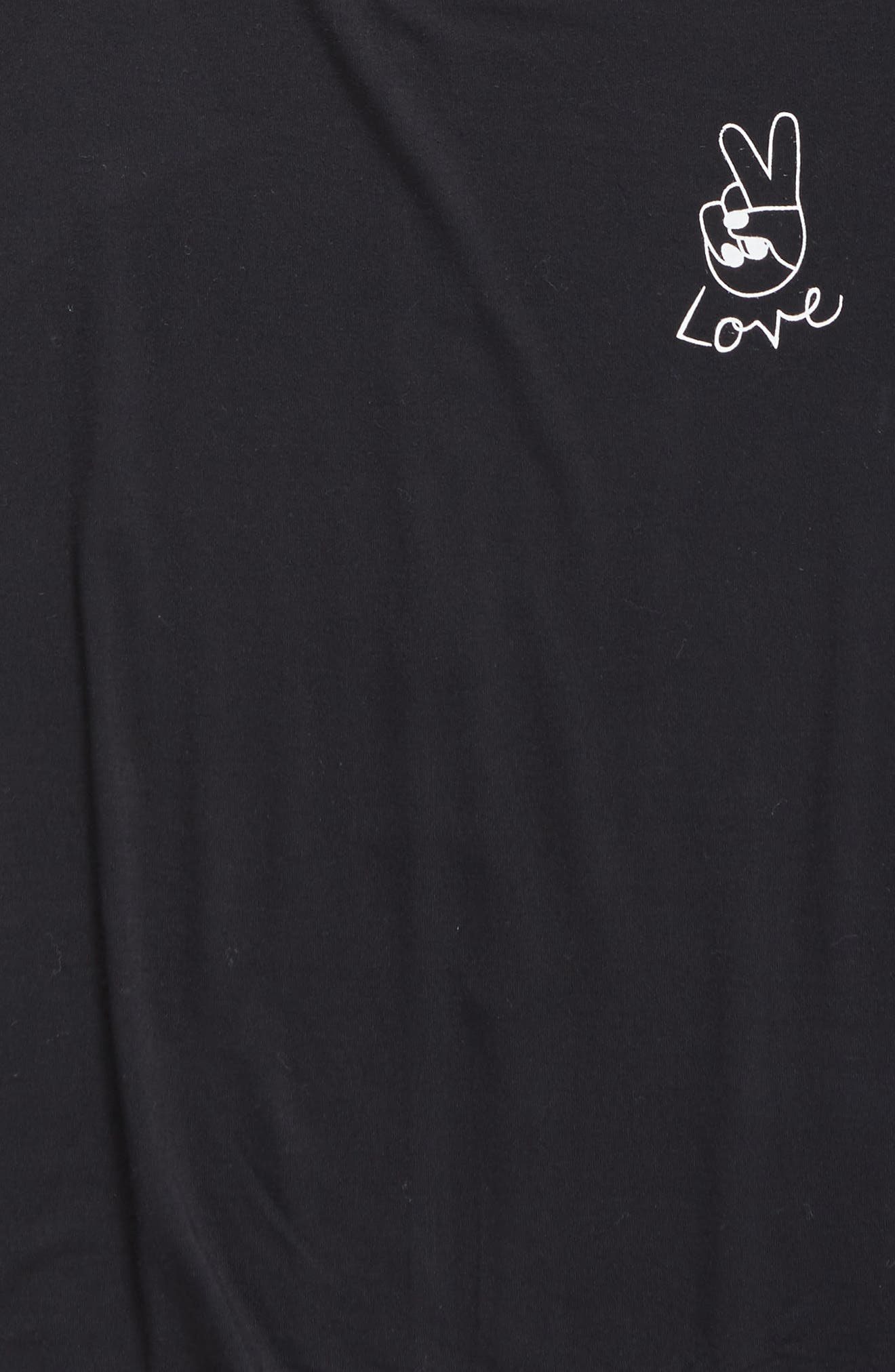 'Living' Graphic Envelope Back Tee,                             Alternate thumbnail 35, color,