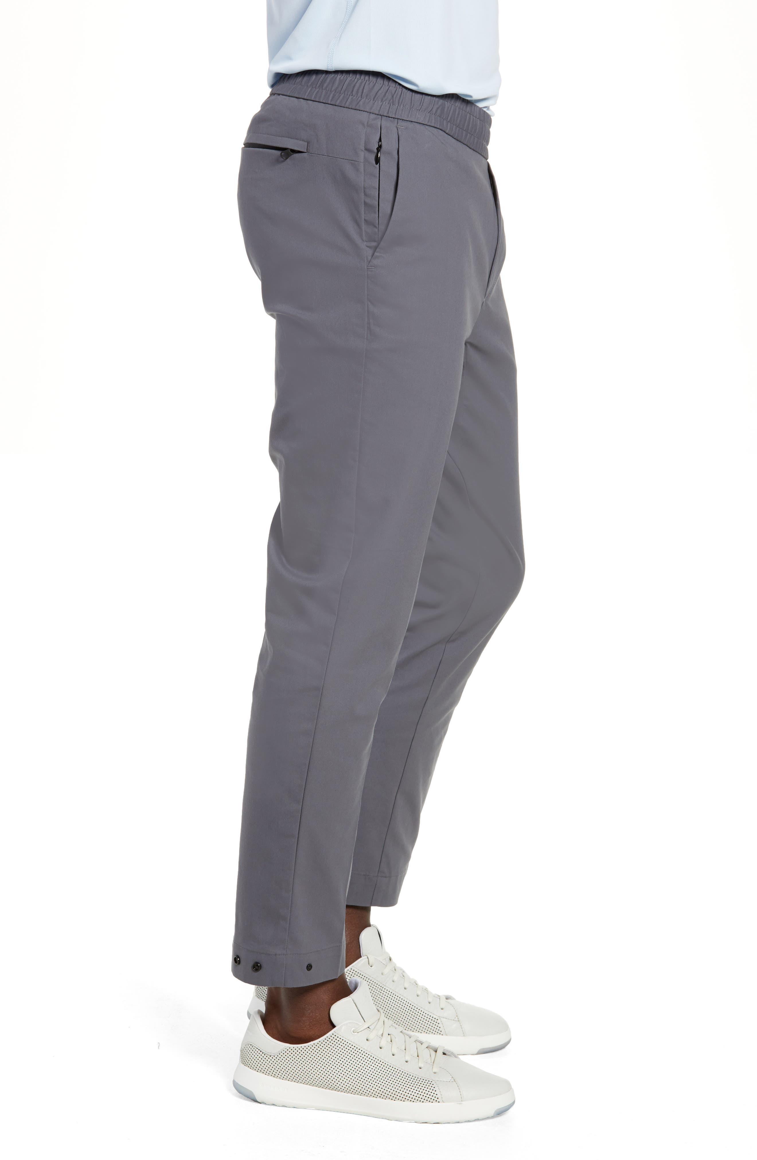 Slim Fit Tech E-Waist Pants,                             Alternate thumbnail 3, color,                             THUNDERCLOUD