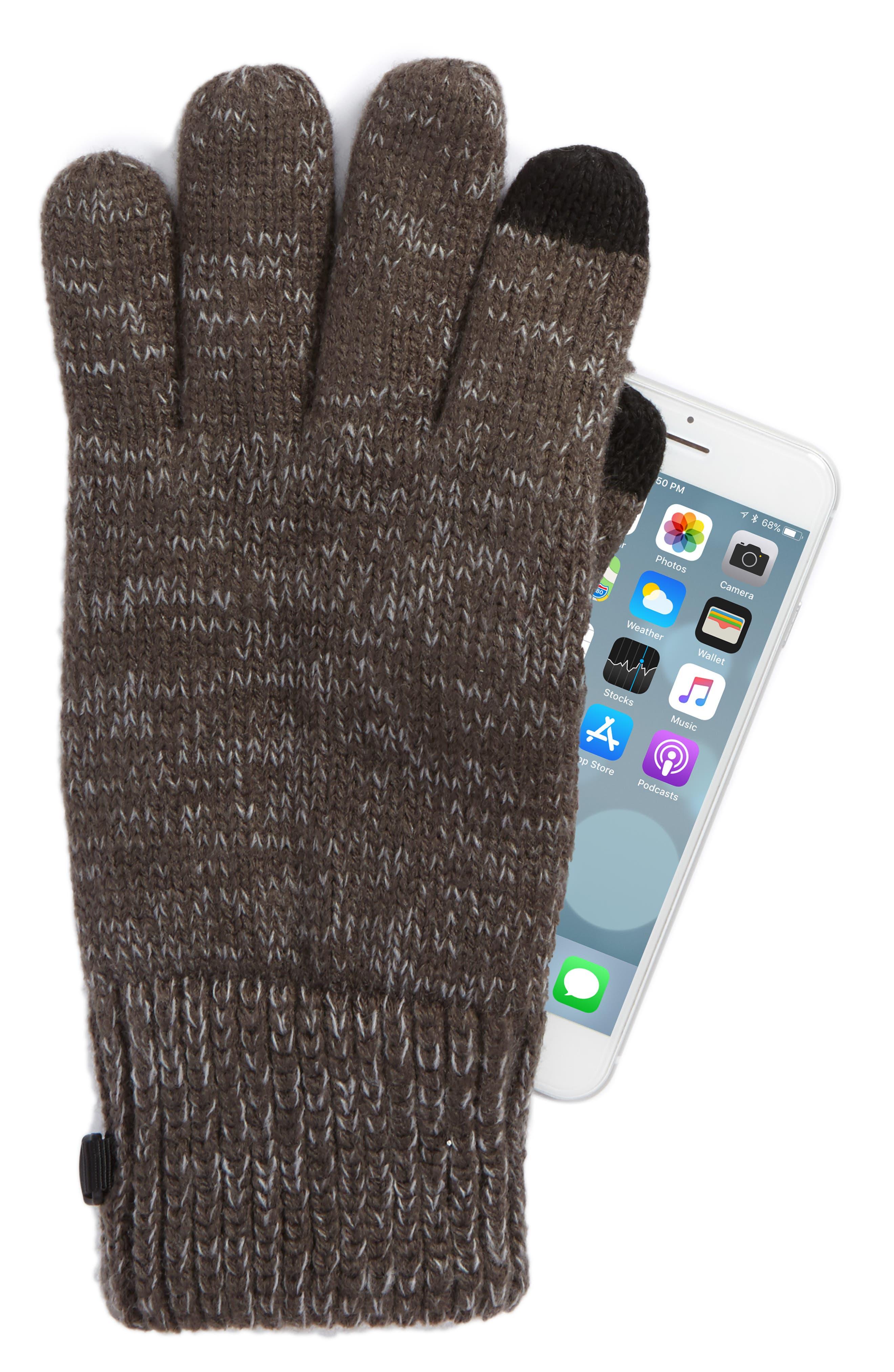 Etip Salty Dog Knit Tech Gloves,                             Alternate thumbnail 2, color,                             GRAPHITE GREY/ MID GREY MARL