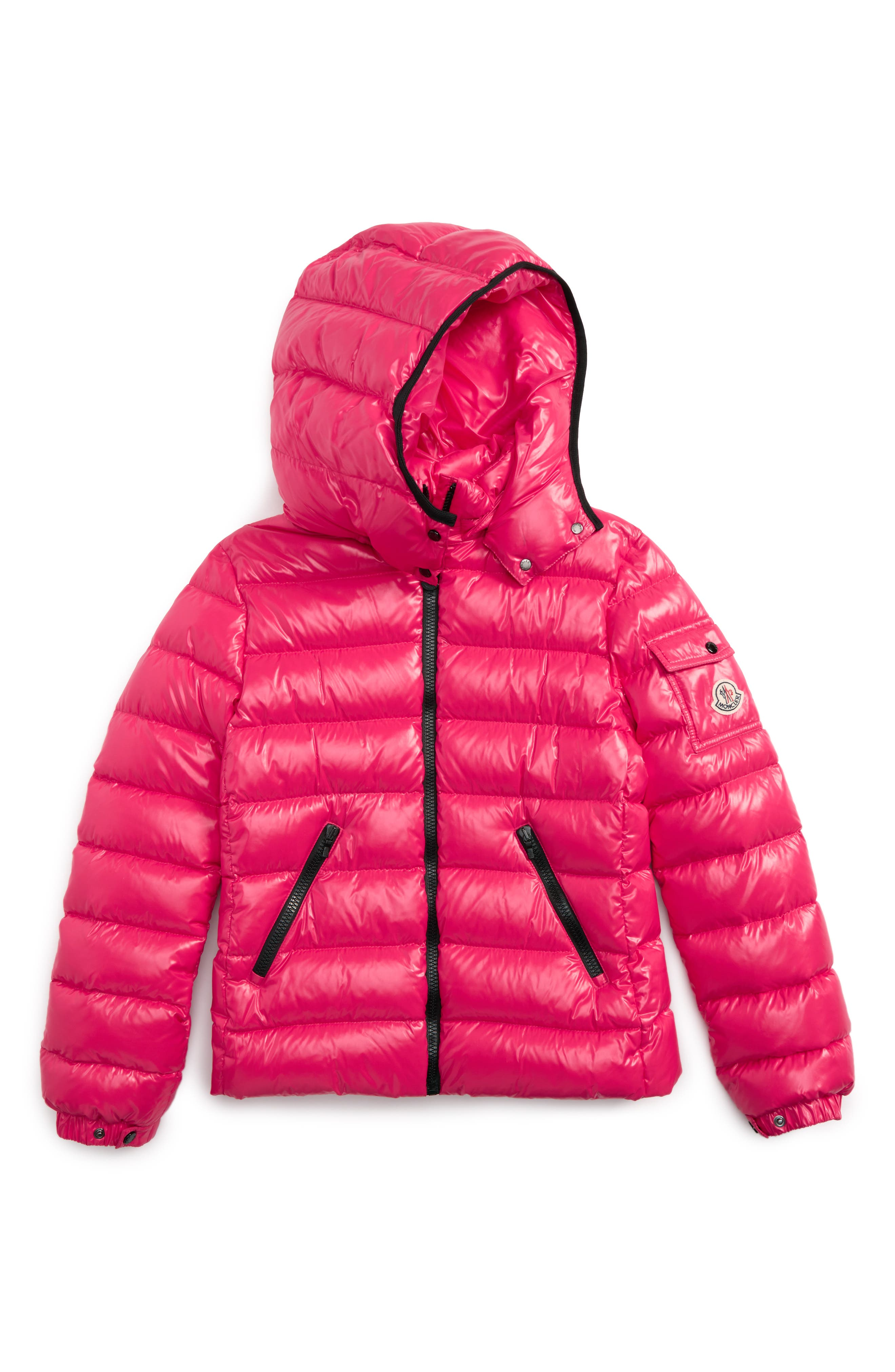 Bady Hooded Down Jacket,                         Main,                         color, FUCHSIA
