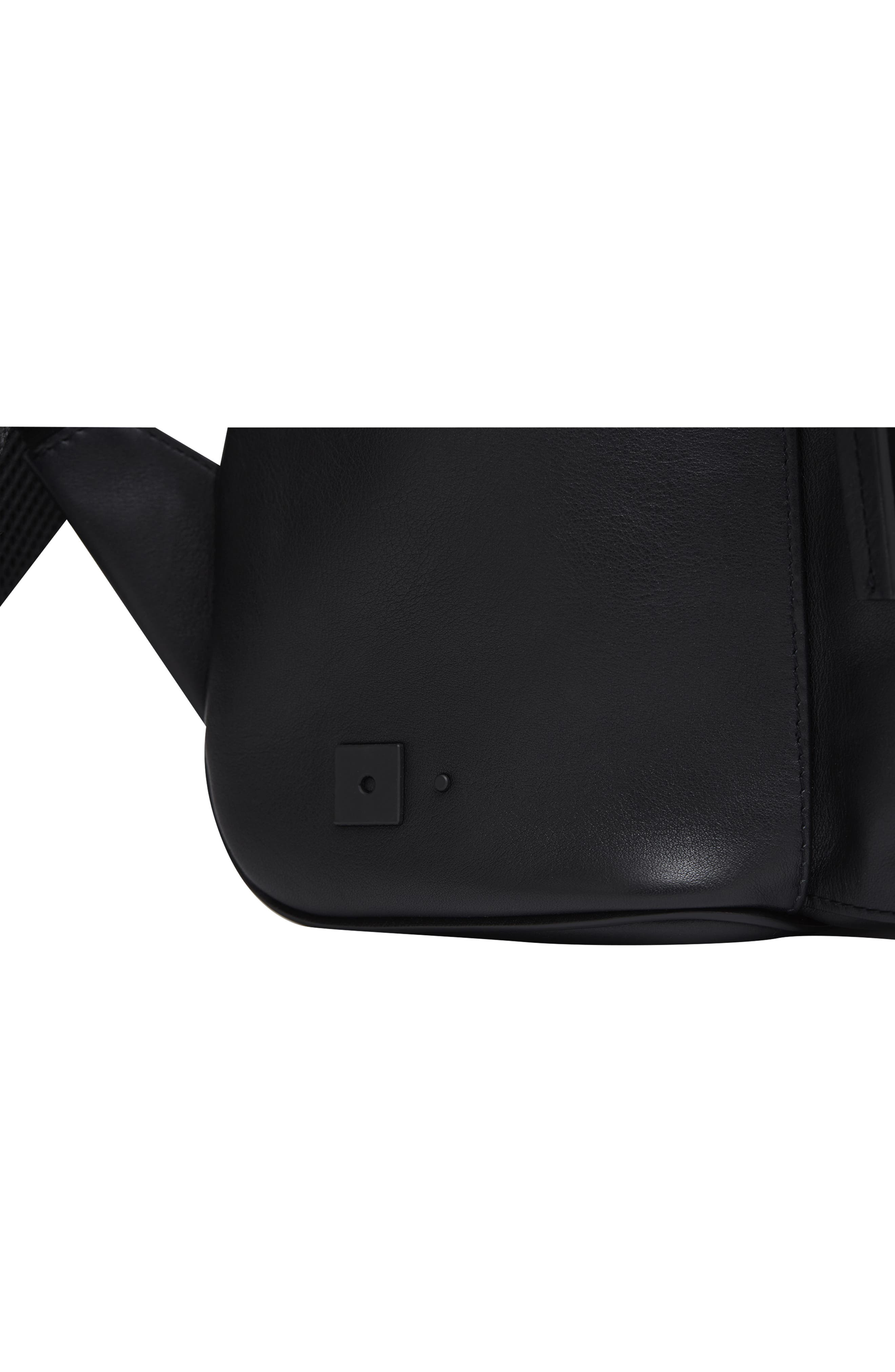 Leather Backpack,                             Alternate thumbnail 12, color,                             BLACK LEATHER