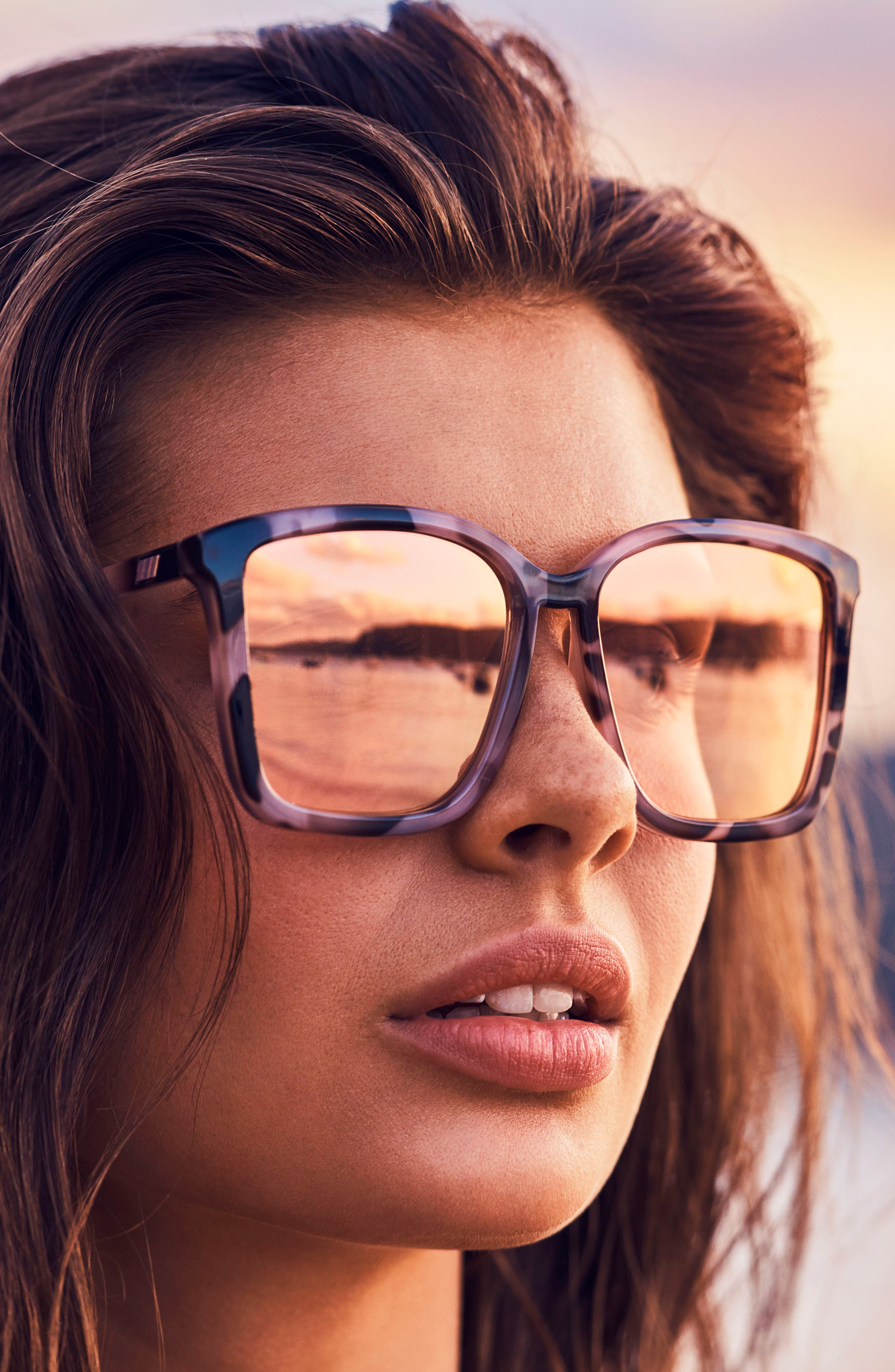 It Ain't Baroque 55mm Sunglasses,                             Alternate thumbnail 4, color,                             APRICOT TORT