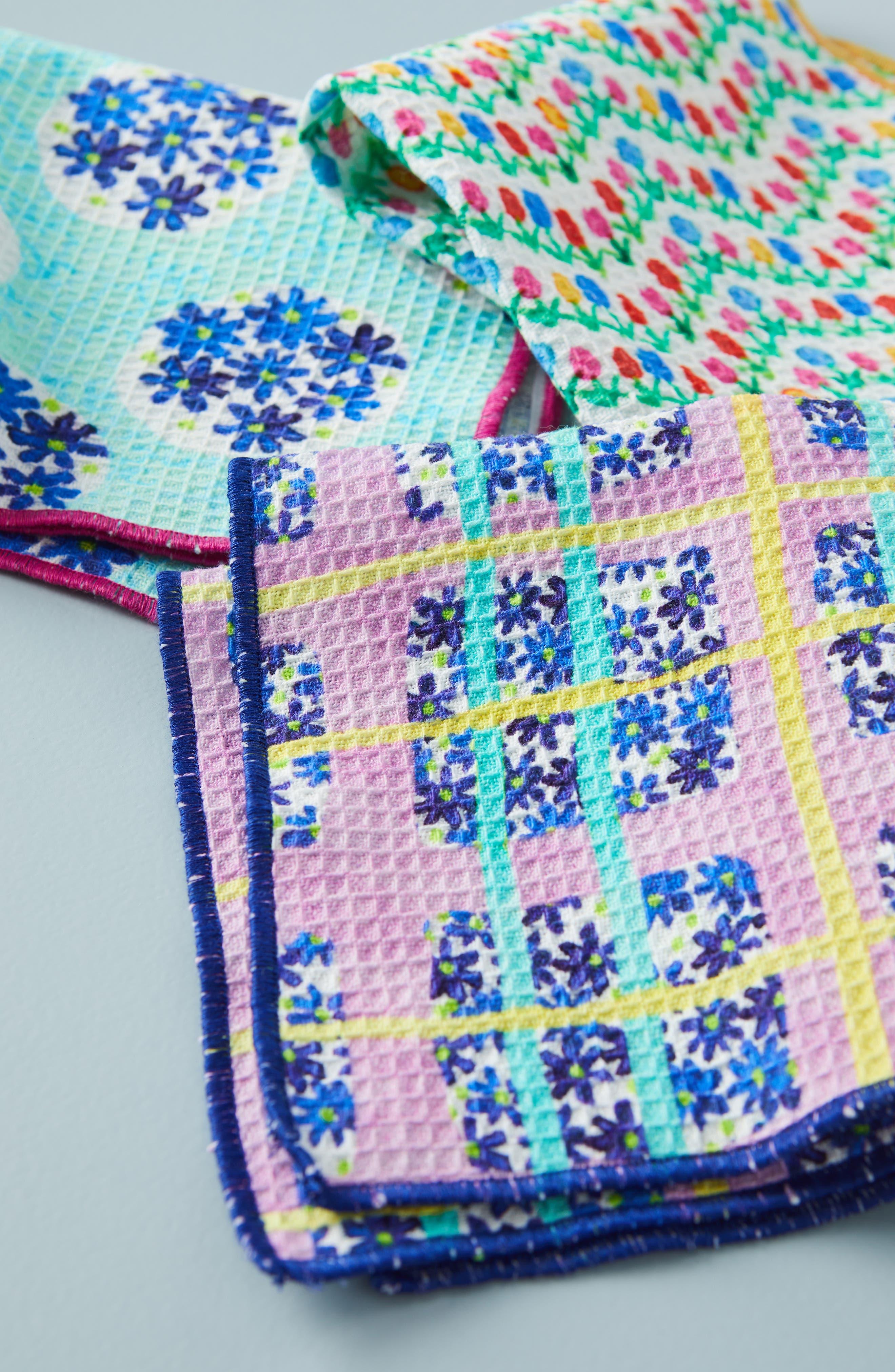 Gabriella Set of 6 Dish Cloths,                             Alternate thumbnail 2, color,                             BLUE MULTI