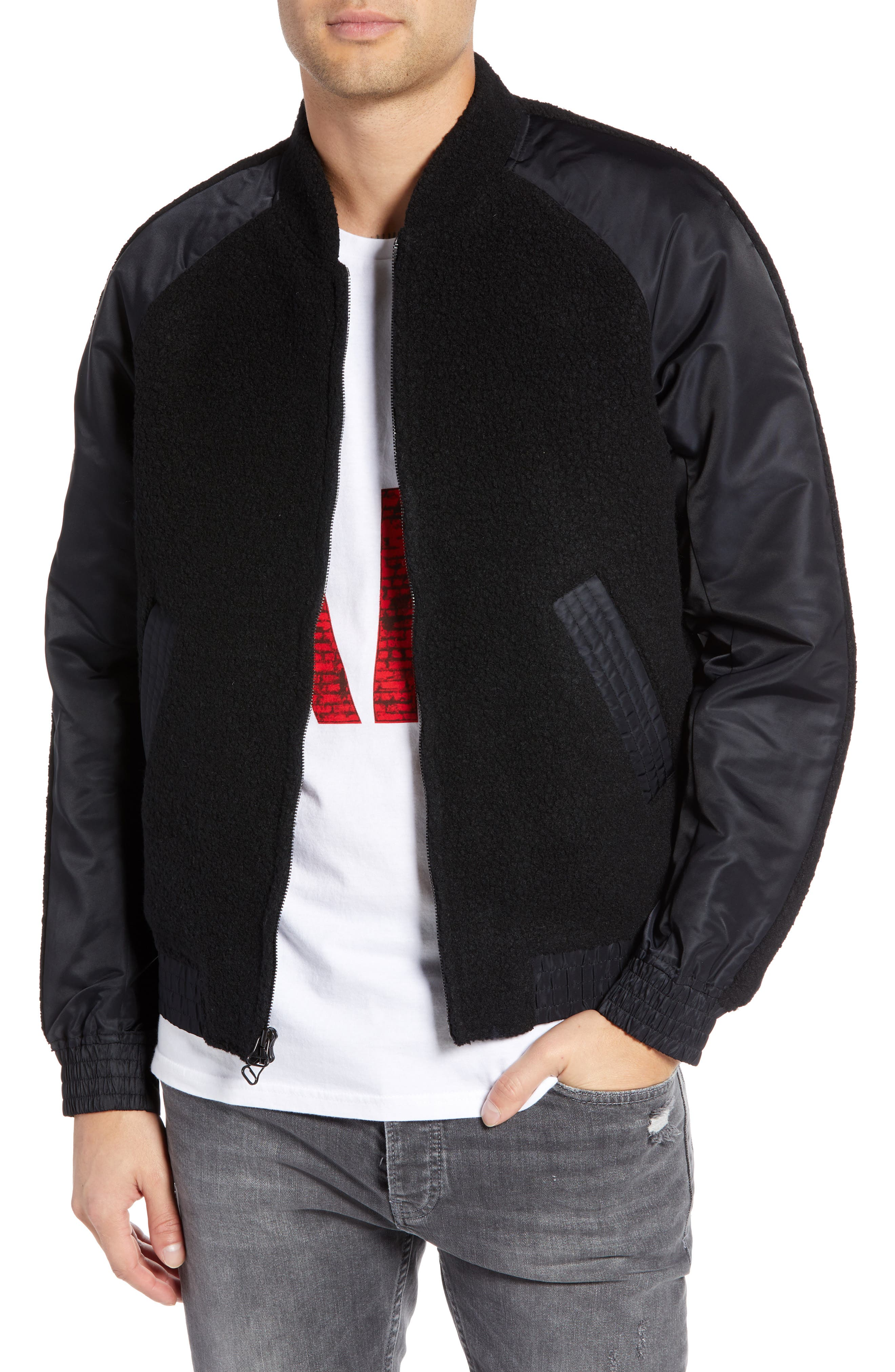 Souvenir Bomber Jacket,                         Main,                         color, 001