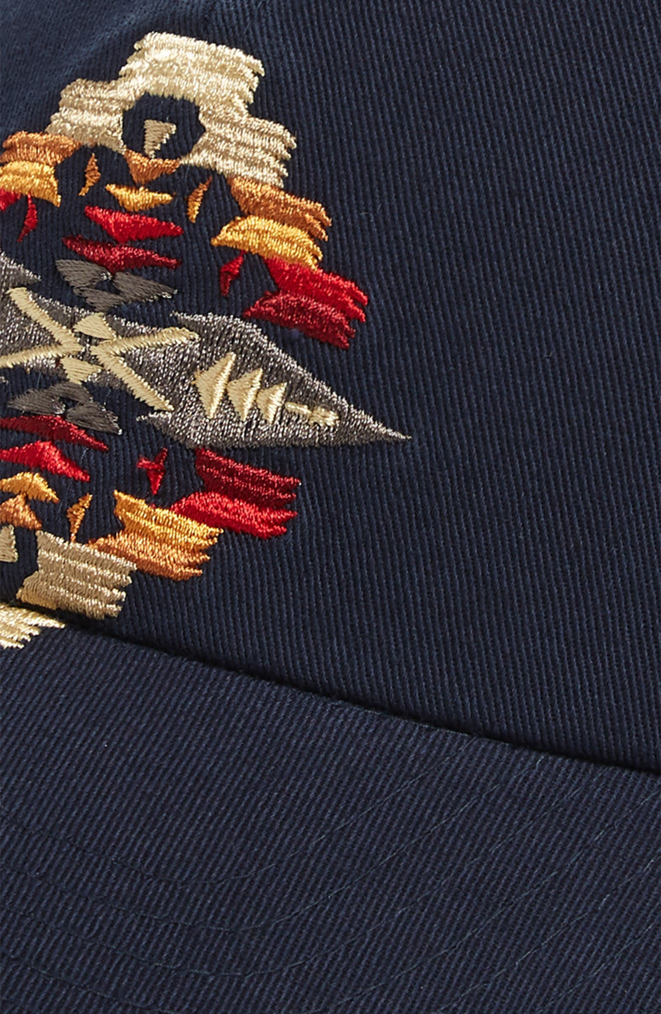 Tucson Embroidered Cap,                             Alternate thumbnail 3, color,                             NAVY