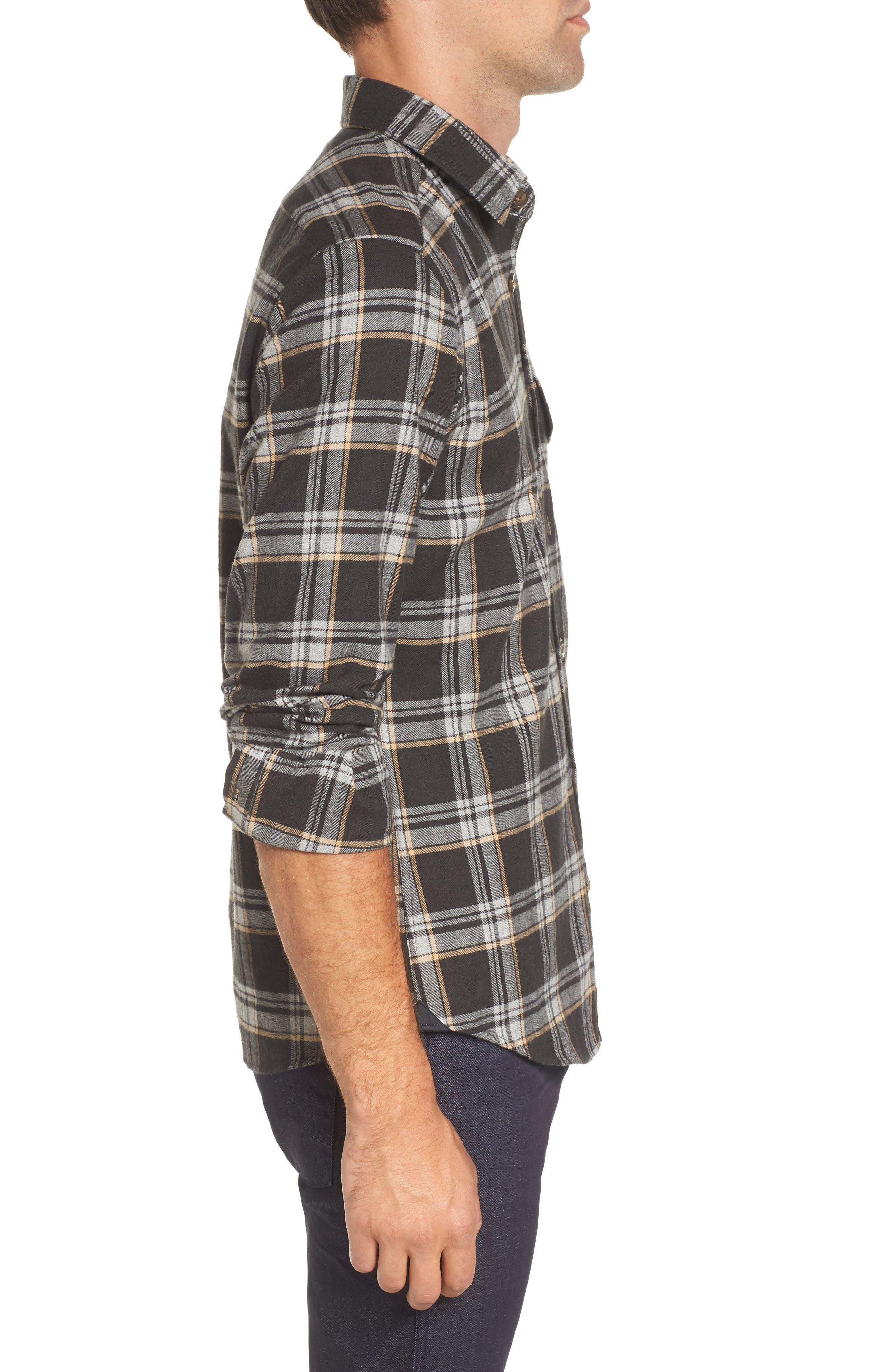 Lalo Plaid Flannel Shirt,                             Alternate thumbnail 3, color,                             262