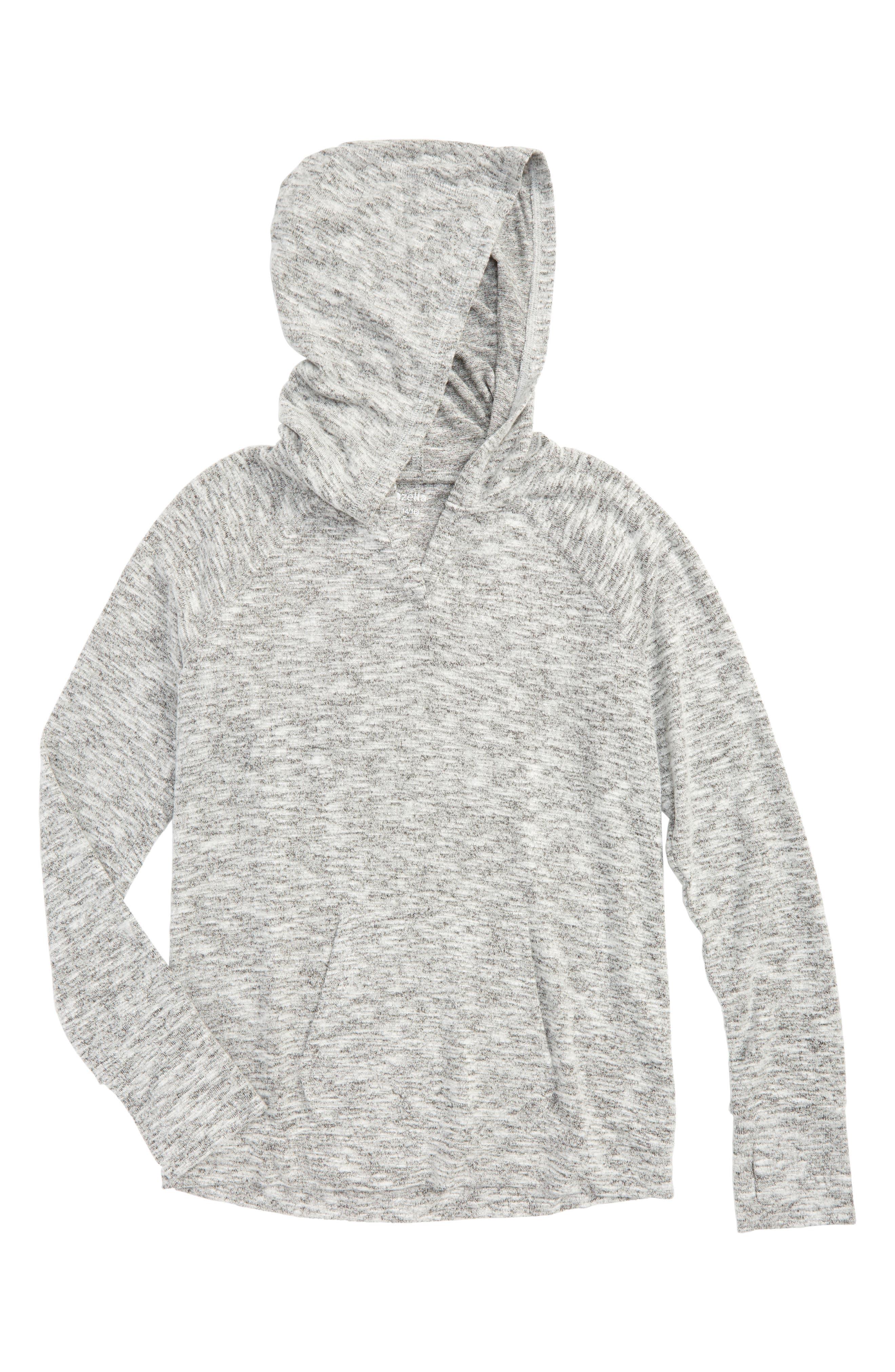 Vinyasa Cutout Hooded Pullover,                             Main thumbnail 1, color,                             001