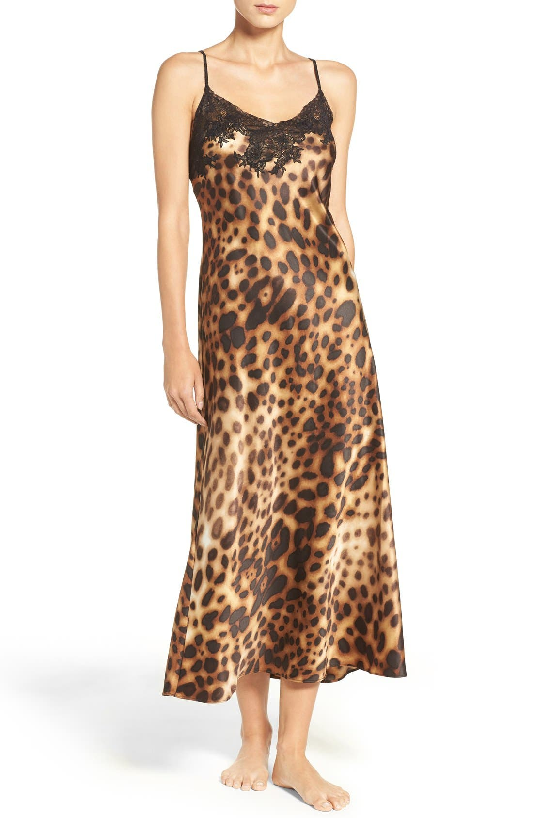 Leopard Nightgown,                             Main thumbnail 1, color,                             200