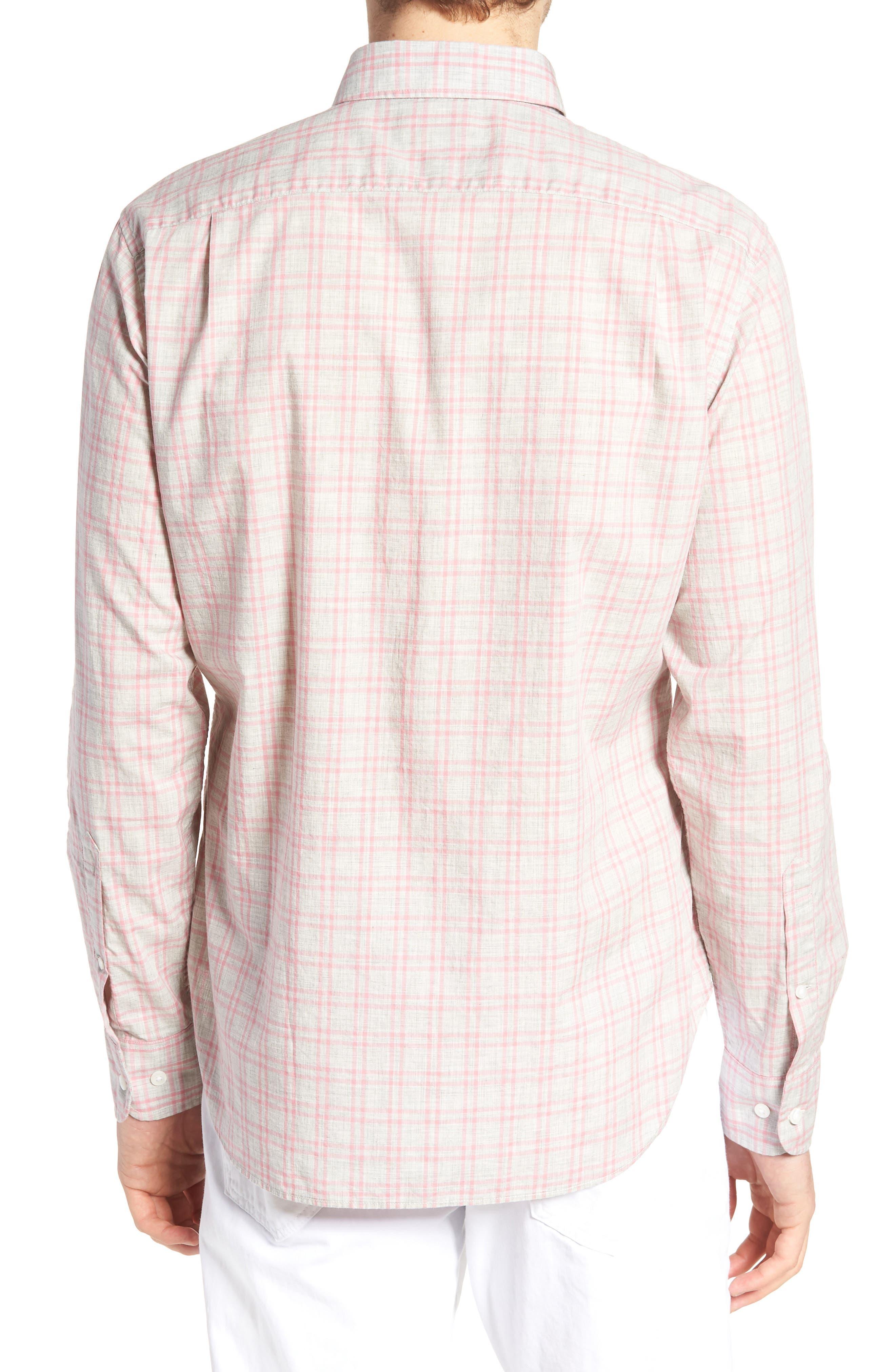 Summerweight Slim Fit Check Sport Shirt,                             Alternate thumbnail 2, color,                             020