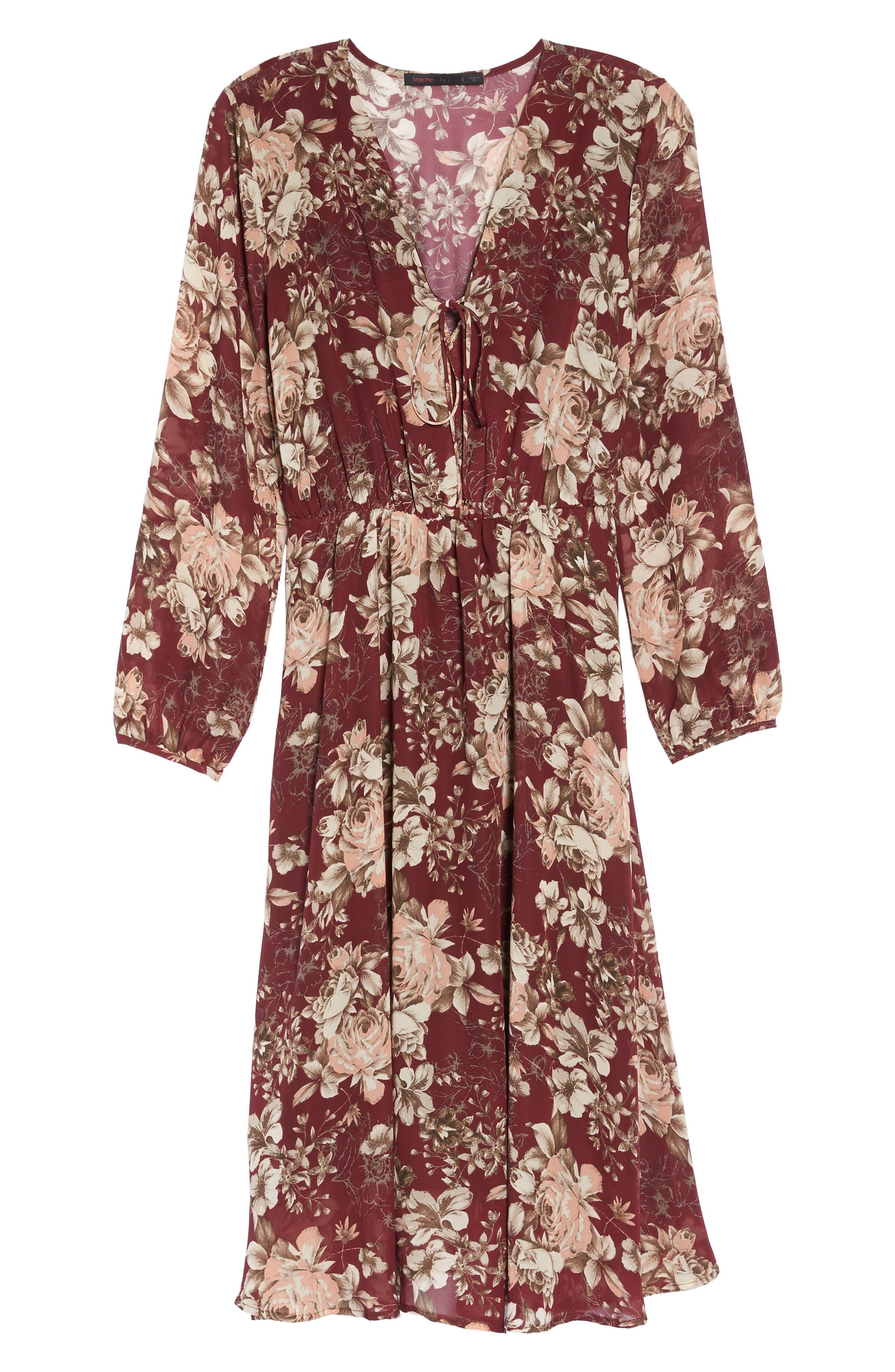Blouson Midi Dress,                             Alternate thumbnail 6, color,