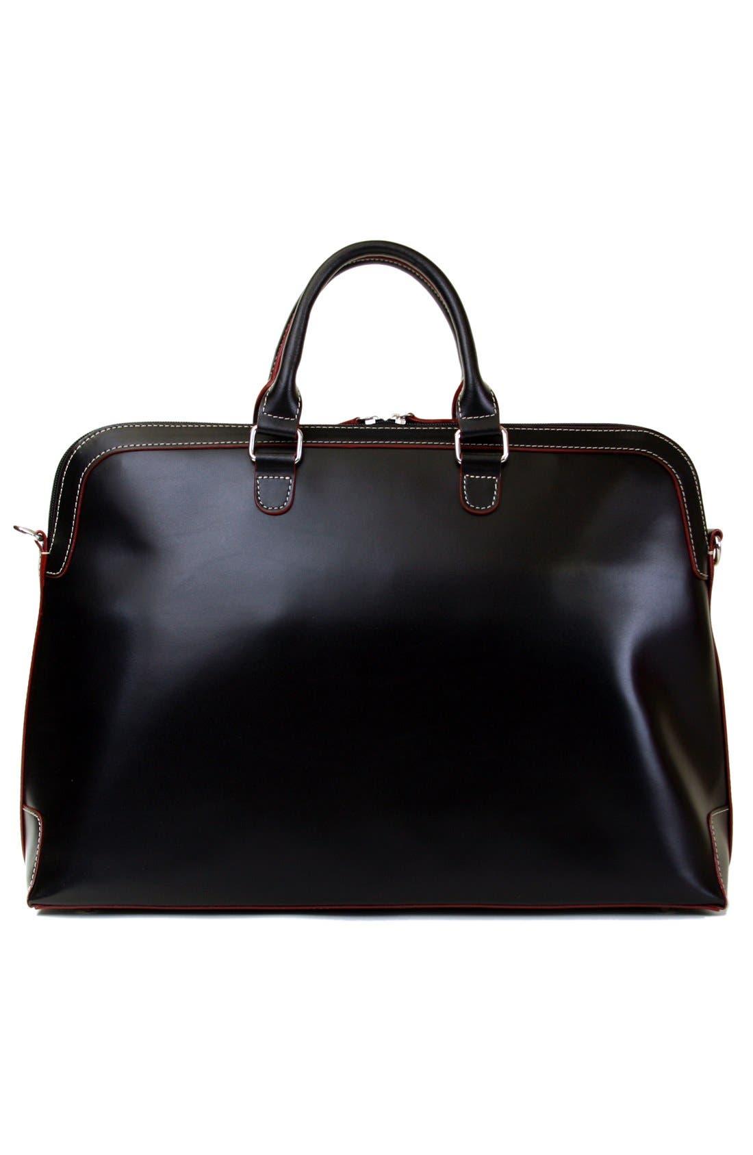 Lodis 'Audrey Brera' Leather Briefcase,                             Alternate thumbnail 5, color,                             001