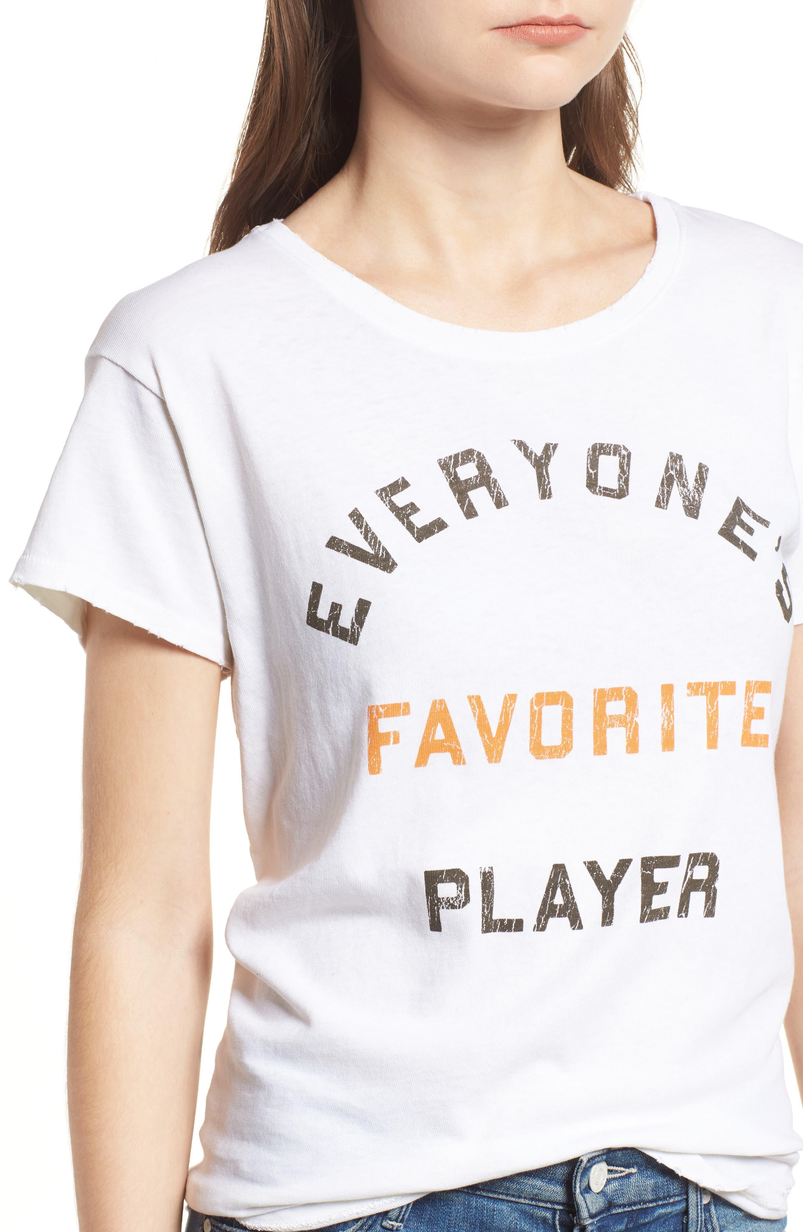 Everyone's Favorite Player Tee,                             Alternate thumbnail 4, color,                             VINTAGE WHITE ORANGE BLACK