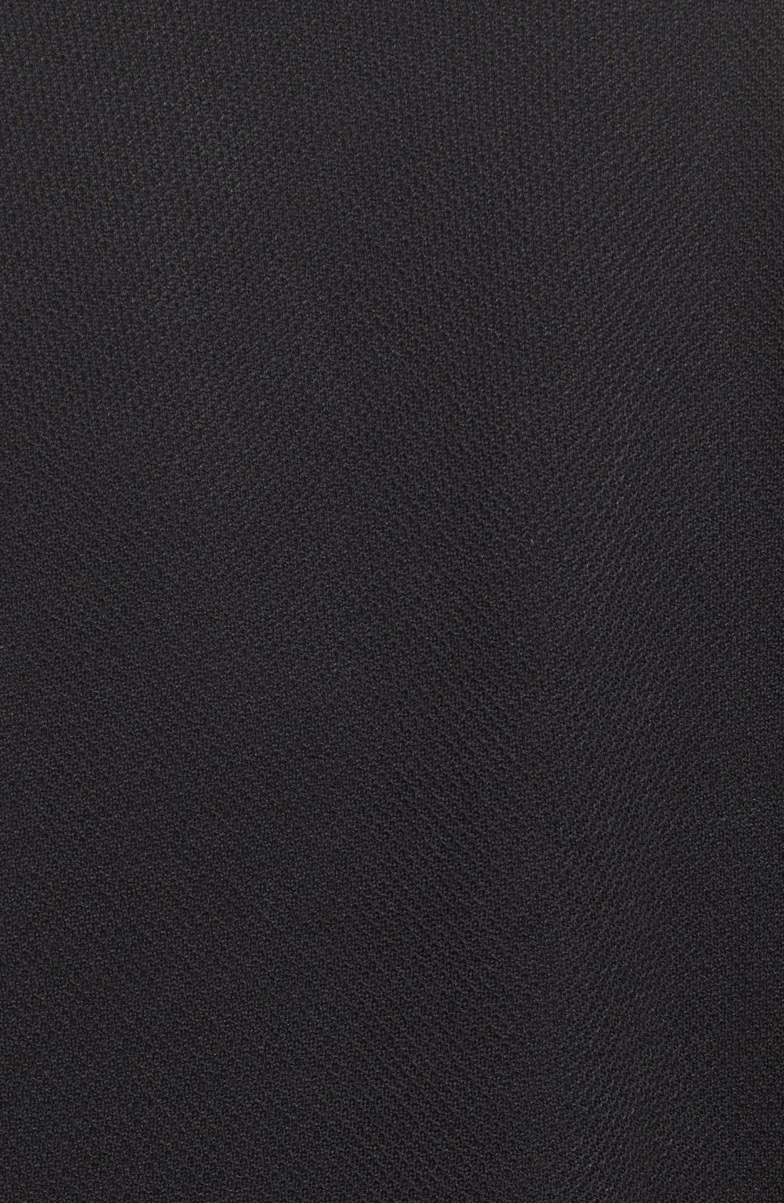 Fringe Trim Milano Piqué Knit Coat,                             Alternate thumbnail 9, color,                             CAVIAR