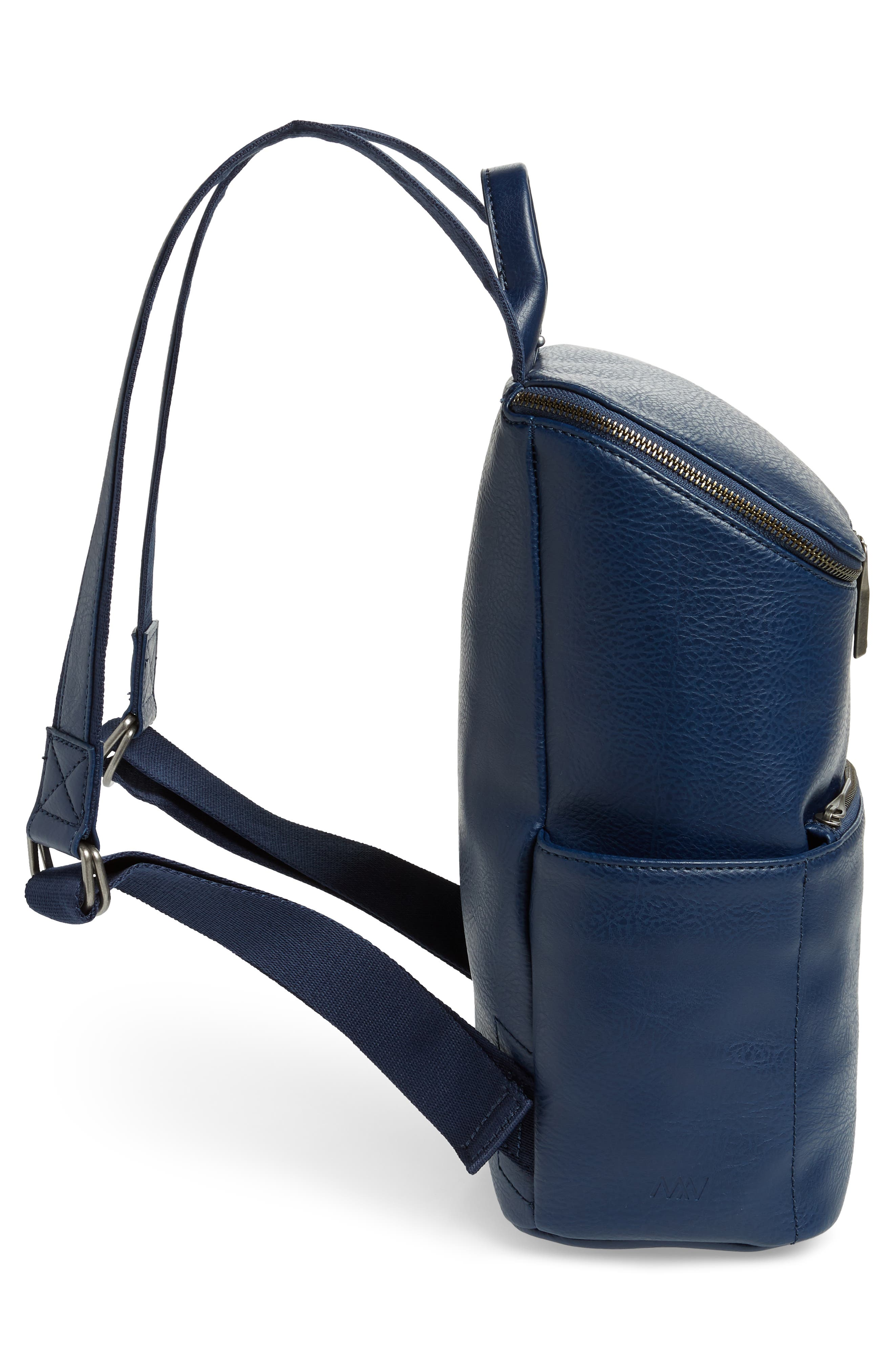 'Brave' Faux Leather Backpack,                             Alternate thumbnail 4, color,                             ALLURE