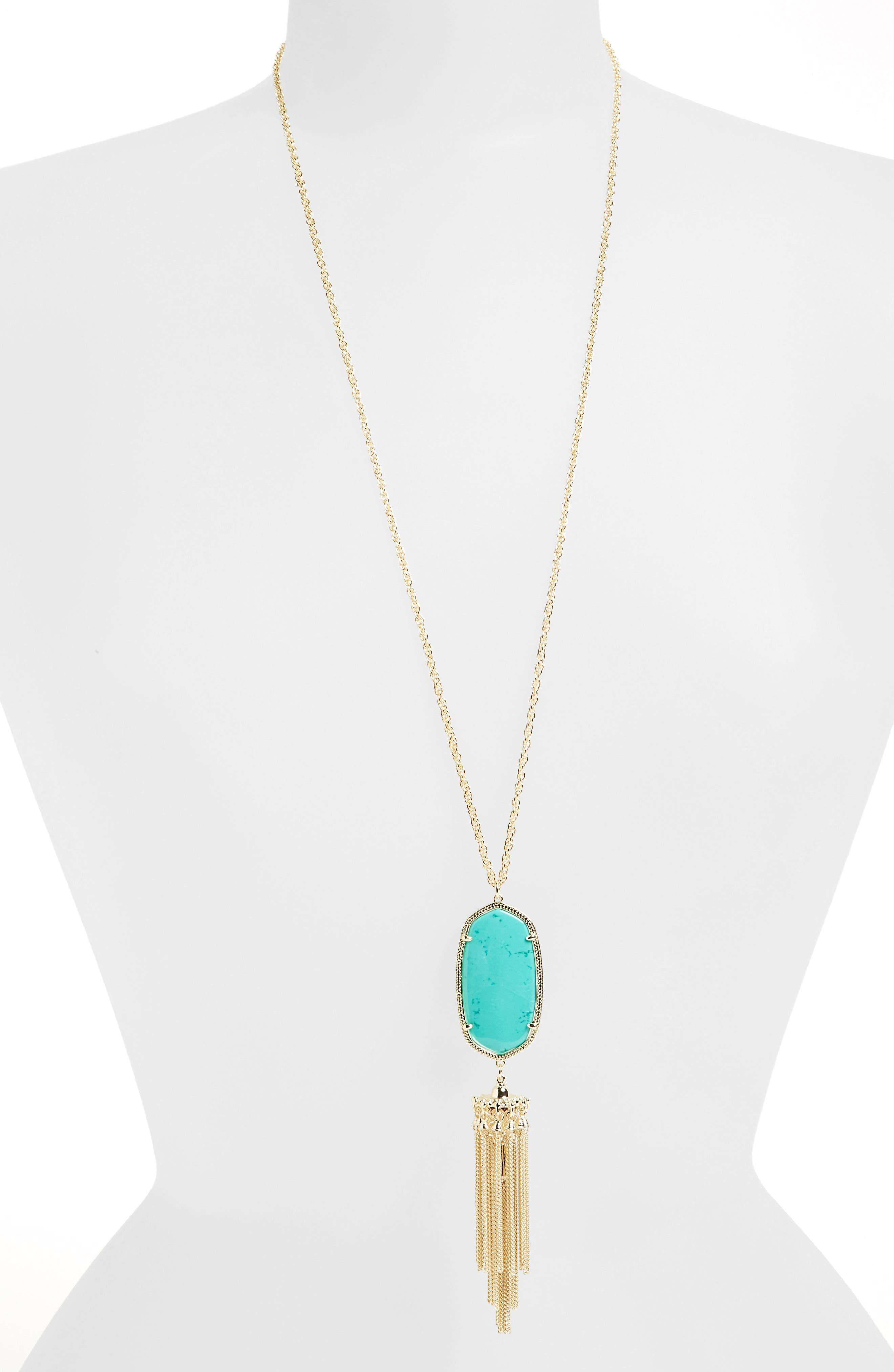 Rayne Stone Tassel Pendant Necklace,                             Alternate thumbnail 130, color,