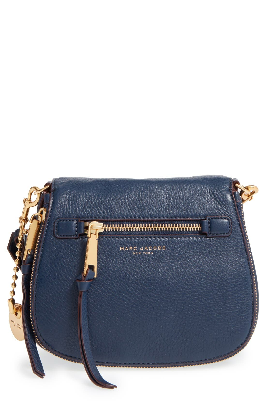 Small Recruit Nomad Pebbled Leather Crossbody Bag,                             Main thumbnail 7, color,