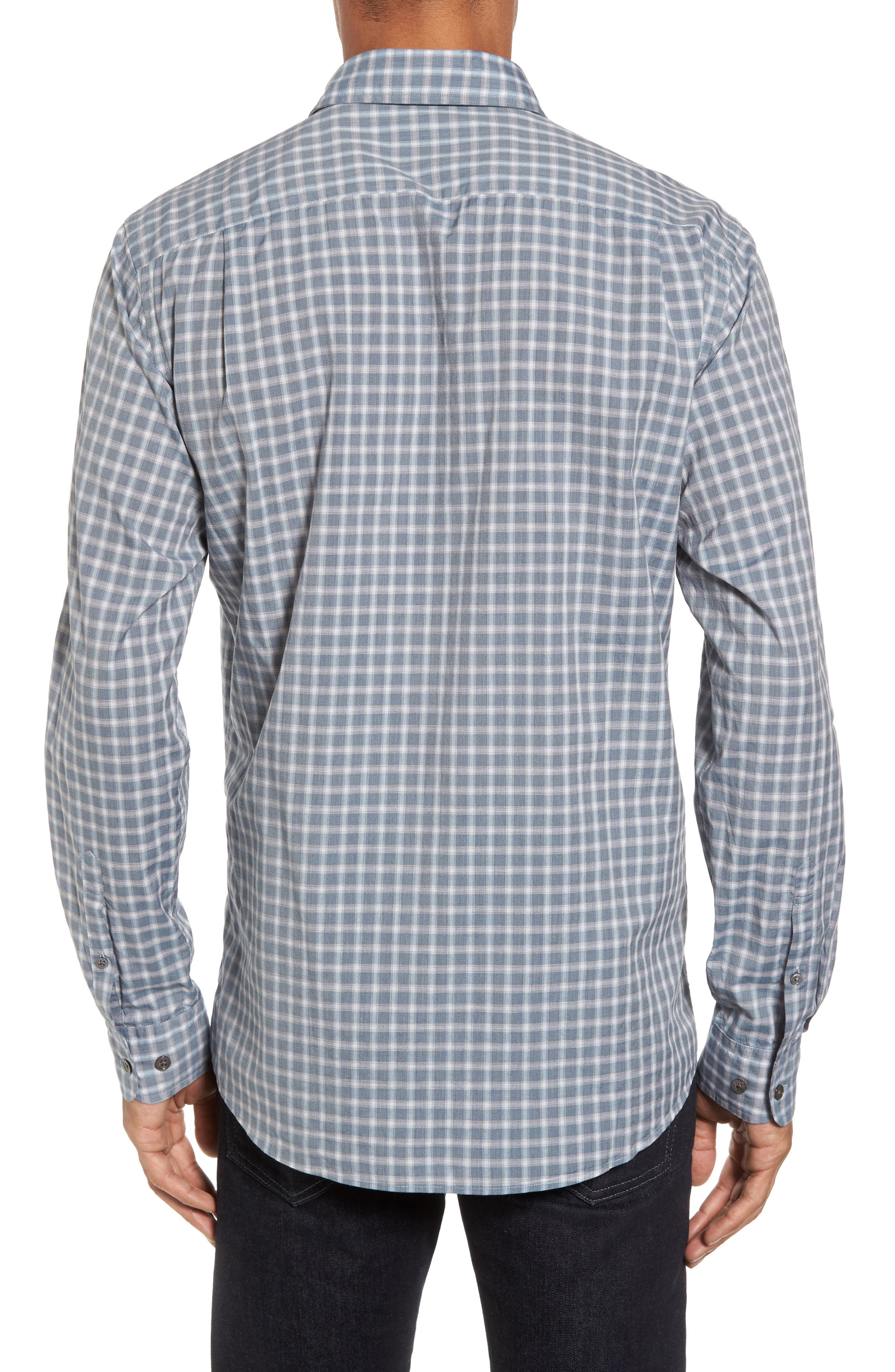 Larkins Way Regular Fit Check Sport Shirt,                             Alternate thumbnail 2, color,