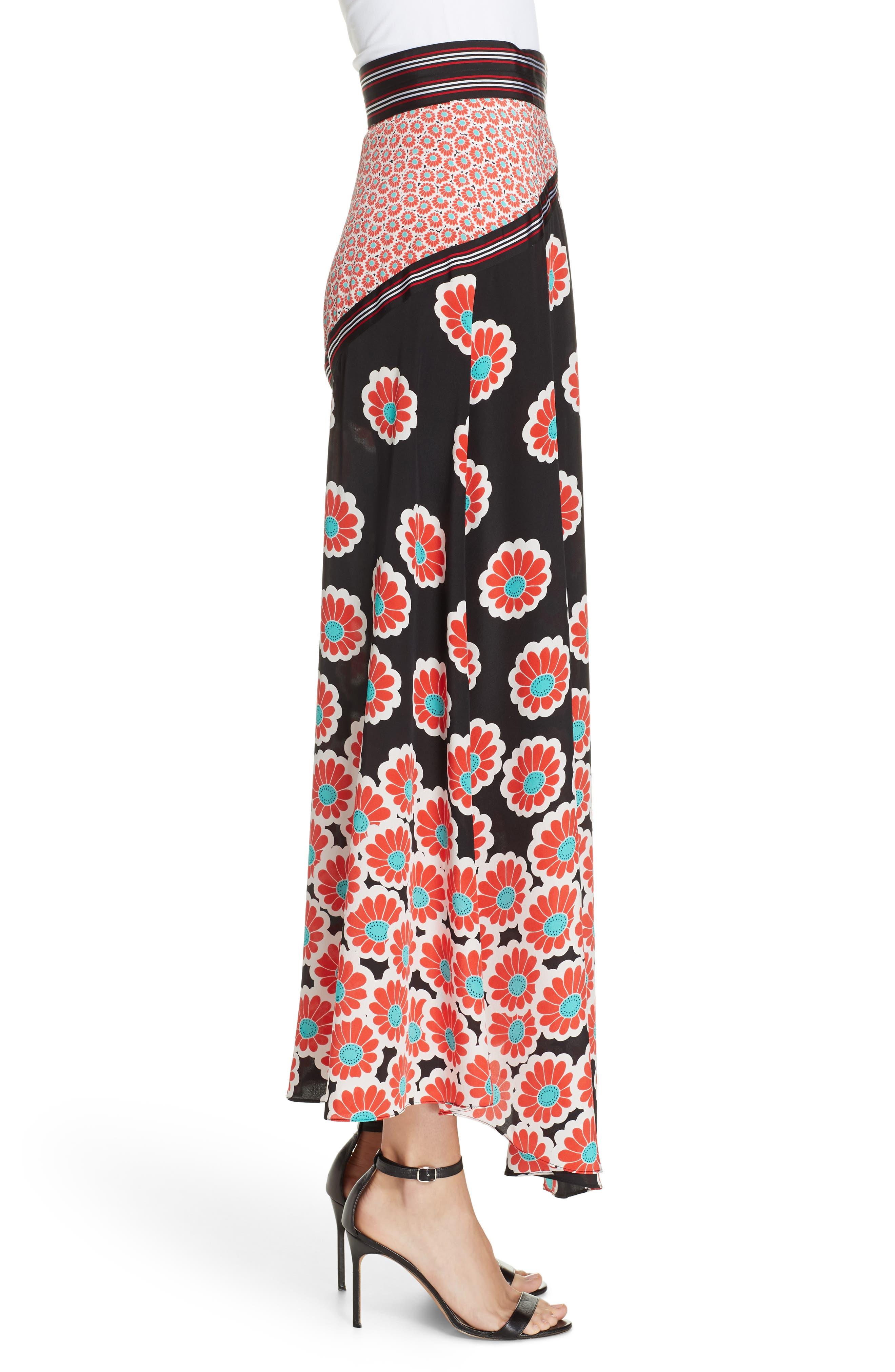 Taylor Wrap Maxi Skirt,                             Alternate thumbnail 3, color,                             KIMONO BLOSSOM BLACK MULTI