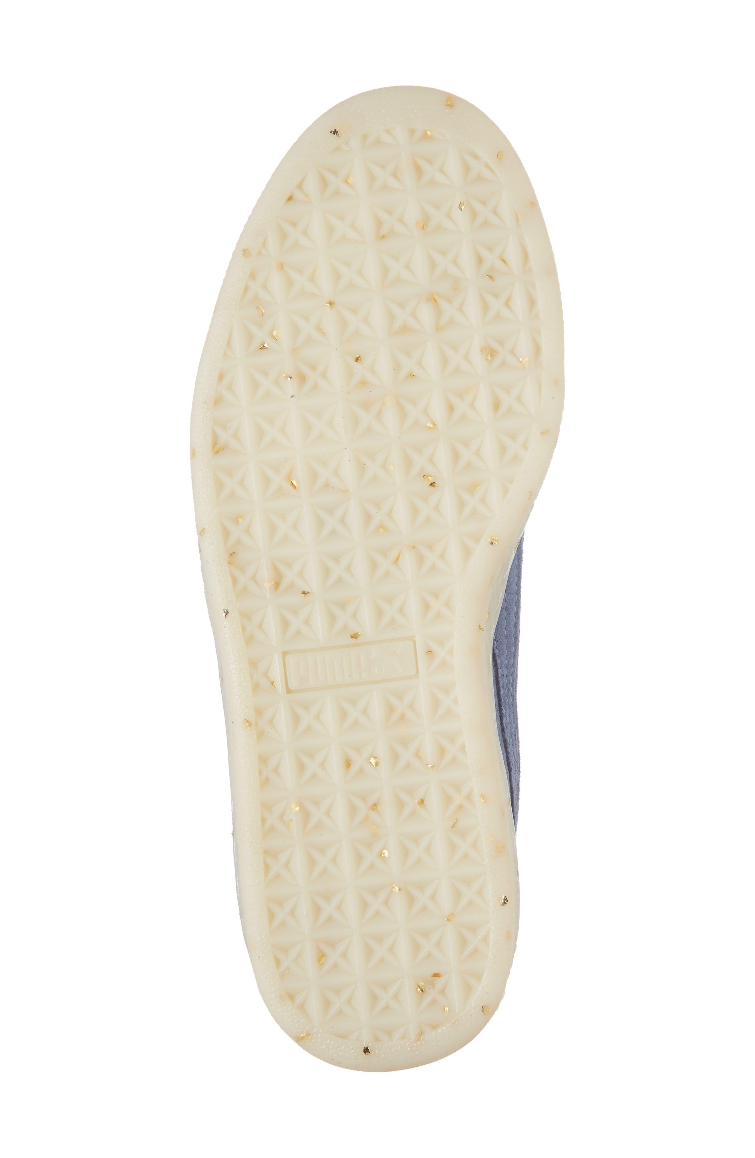 Suede - Heart Sneaker,                             Alternate thumbnail 42, color,