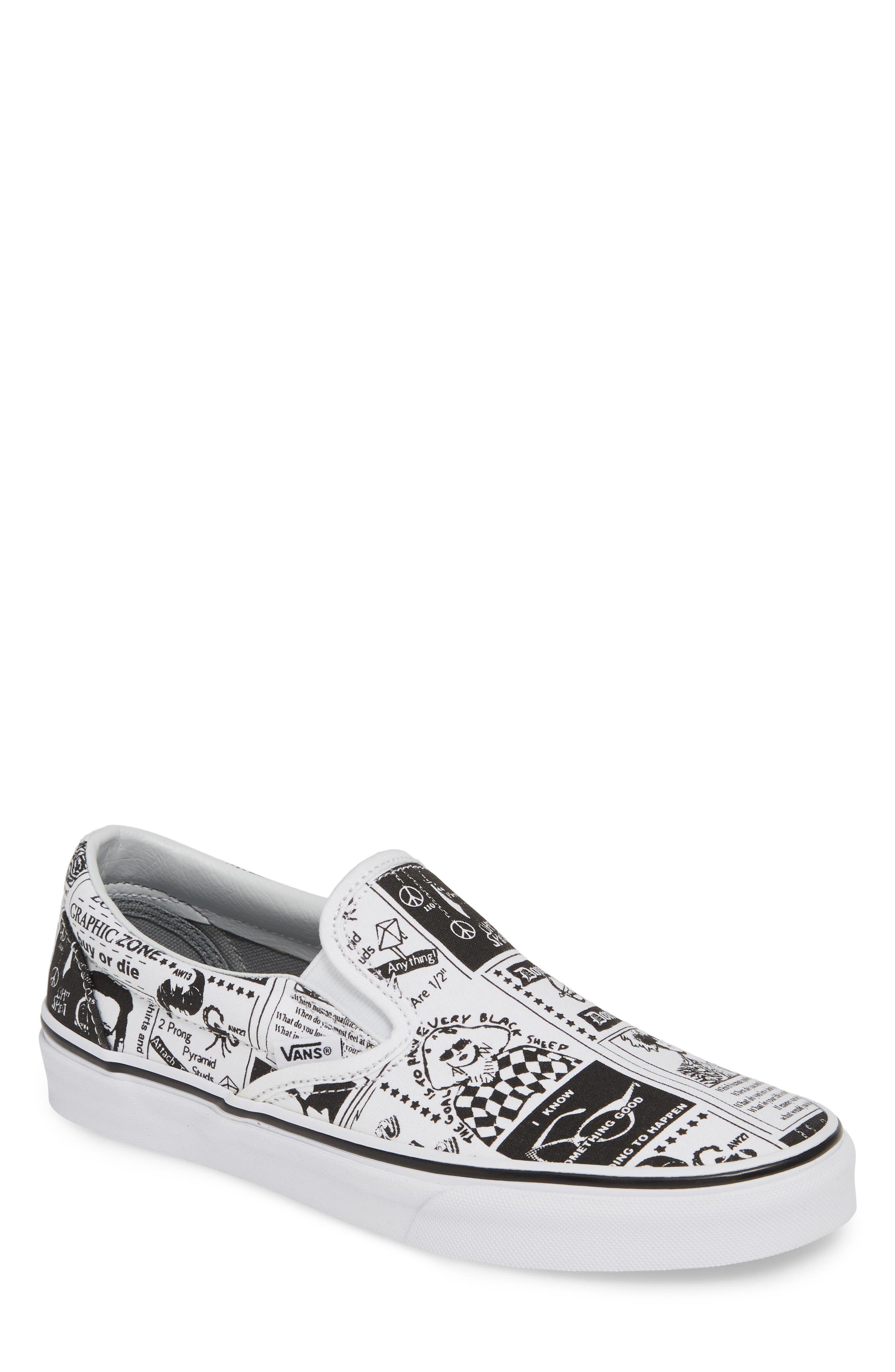 VANS,                             x Ashley Williams Print Classic Slip-On Sneaker,                             Main thumbnail 1, color,                             100