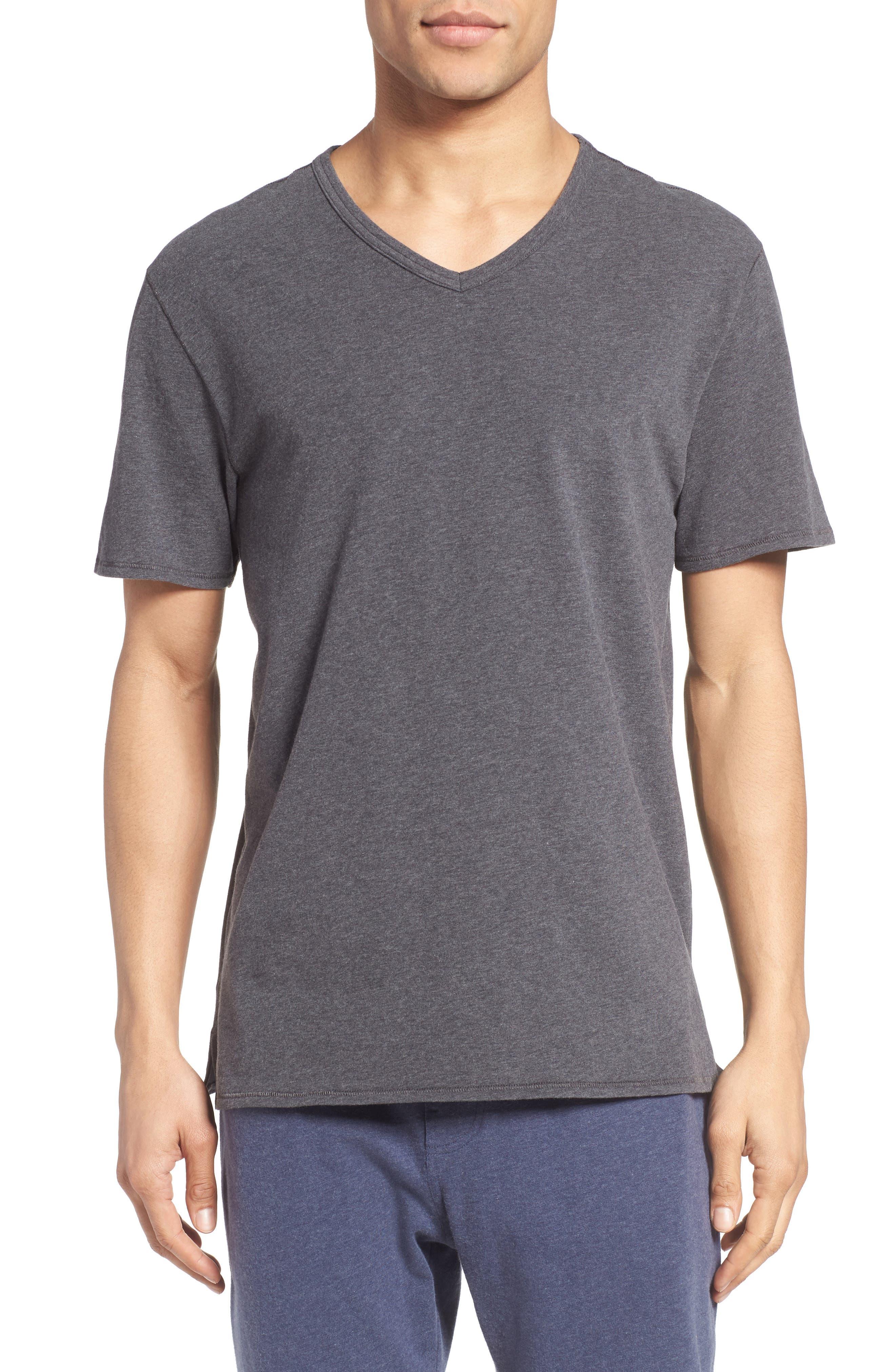 Stretch Cotton V-Neck T-Shirt,                             Main thumbnail 1, color,                             020