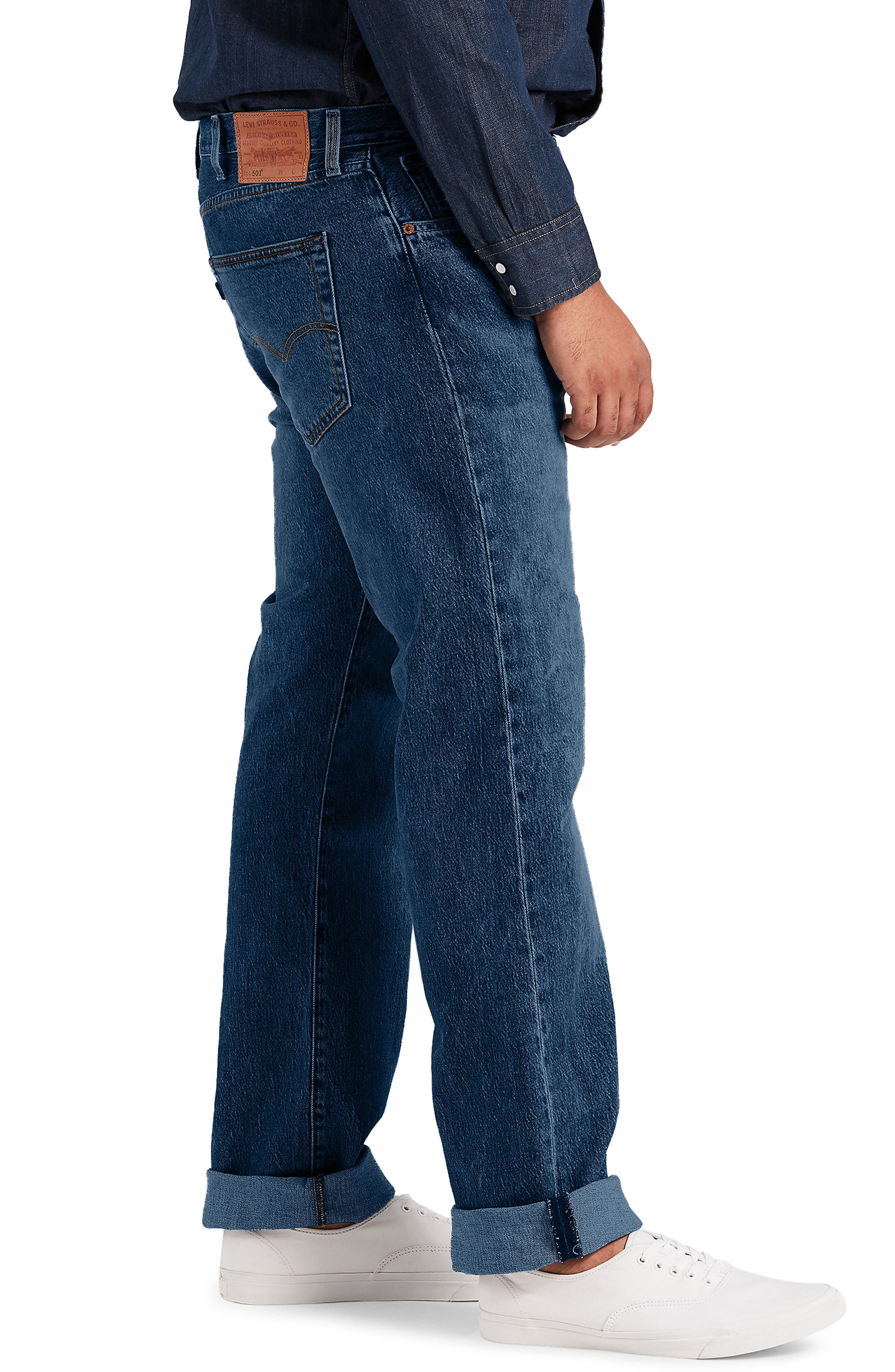 LEVI'S<SUP>®</SUP>,                             501<sup>®</sup> Straight Leg Jeans,                             Alternate thumbnail 3, color,                             DAIRY WHIPPED