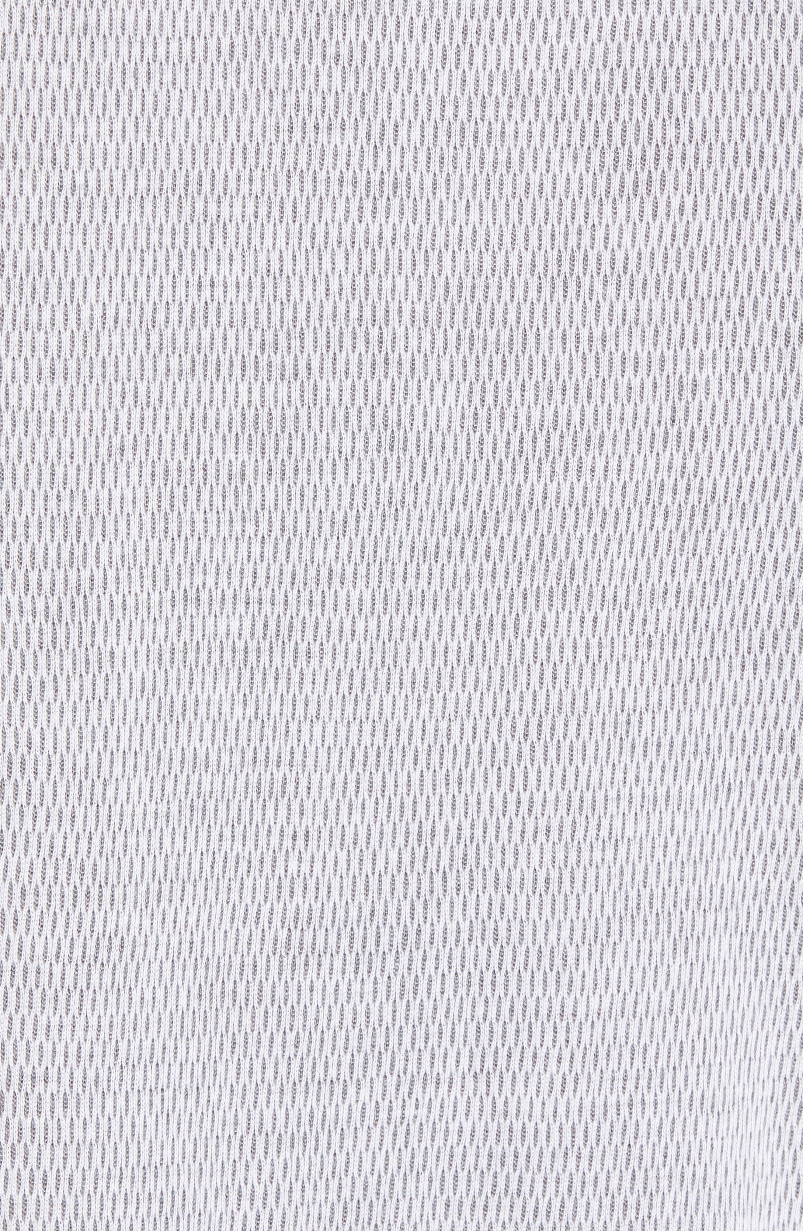 Thermal Knit Raglan Hoodie,                             Alternate thumbnail 5, color,                             GREY/ WHITE TWO TONE