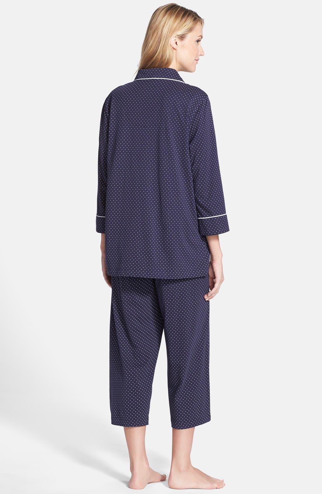 Knit Crop Pajamas,                             Alternate thumbnail 39, color,