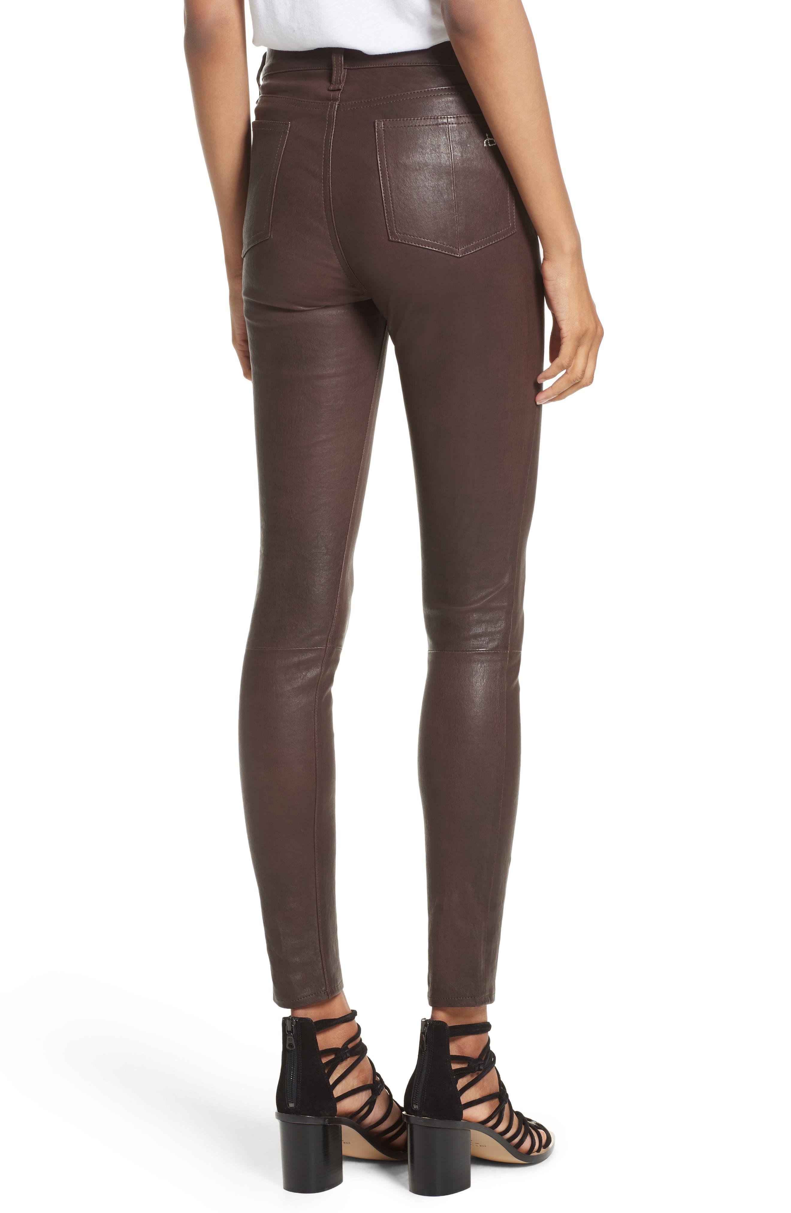 Lambskin Leather Pants,                             Alternate thumbnail 7, color,