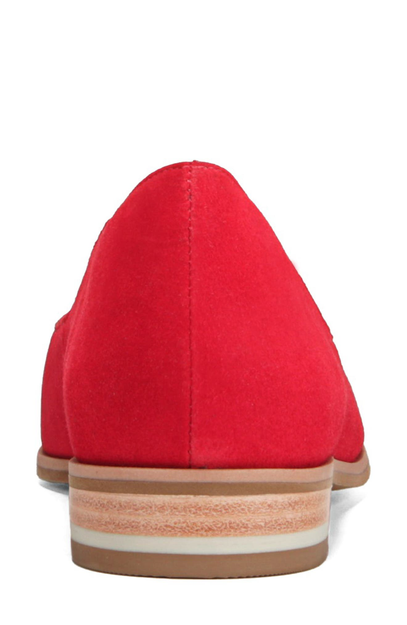 Dr. Scholls Flair Flat,                             Alternate thumbnail 7, color,                             RED LEATHER