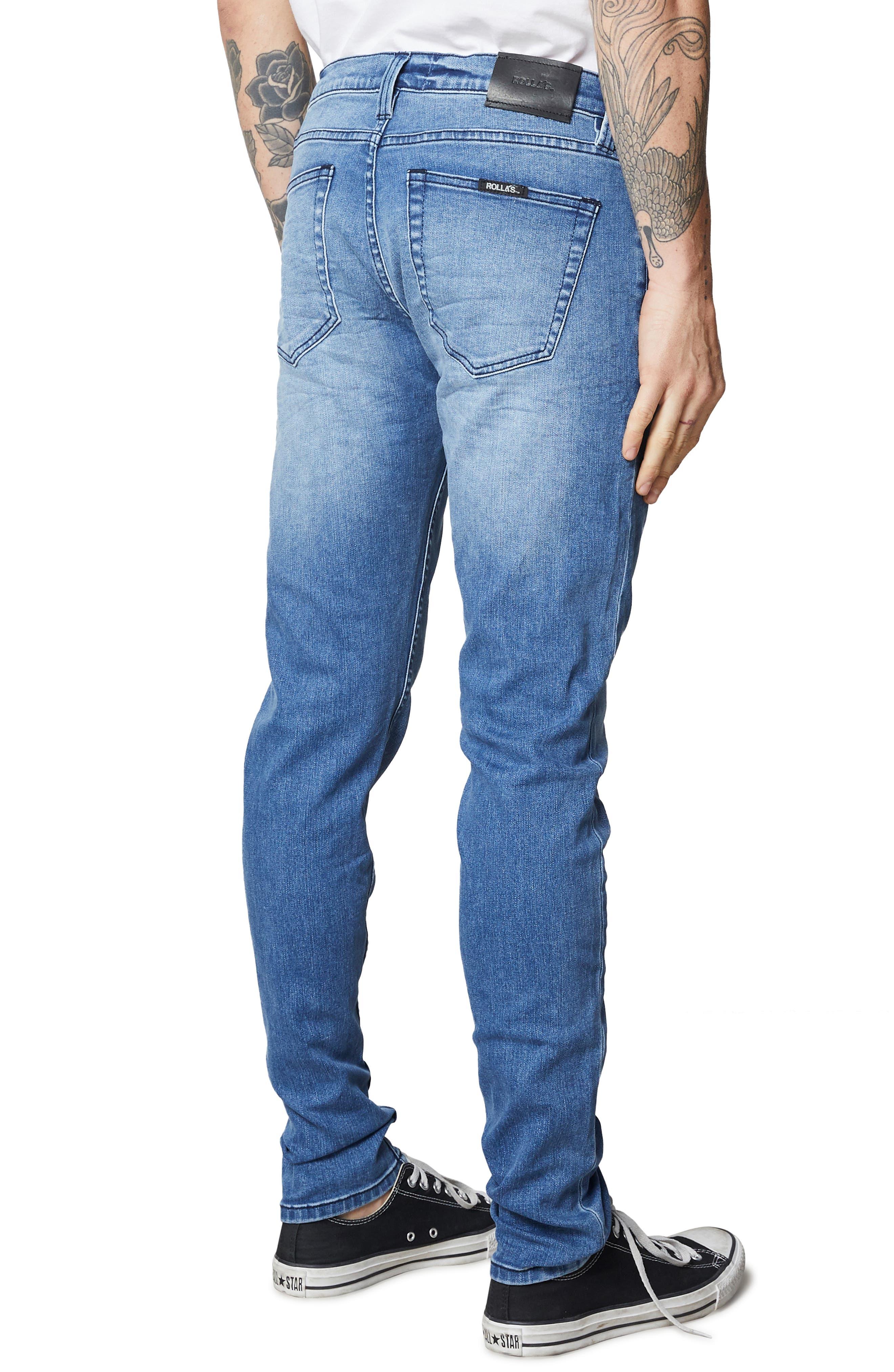 Stinger Skinny Fit Jeans,                             Alternate thumbnail 4, color,                             TRUE BLUE