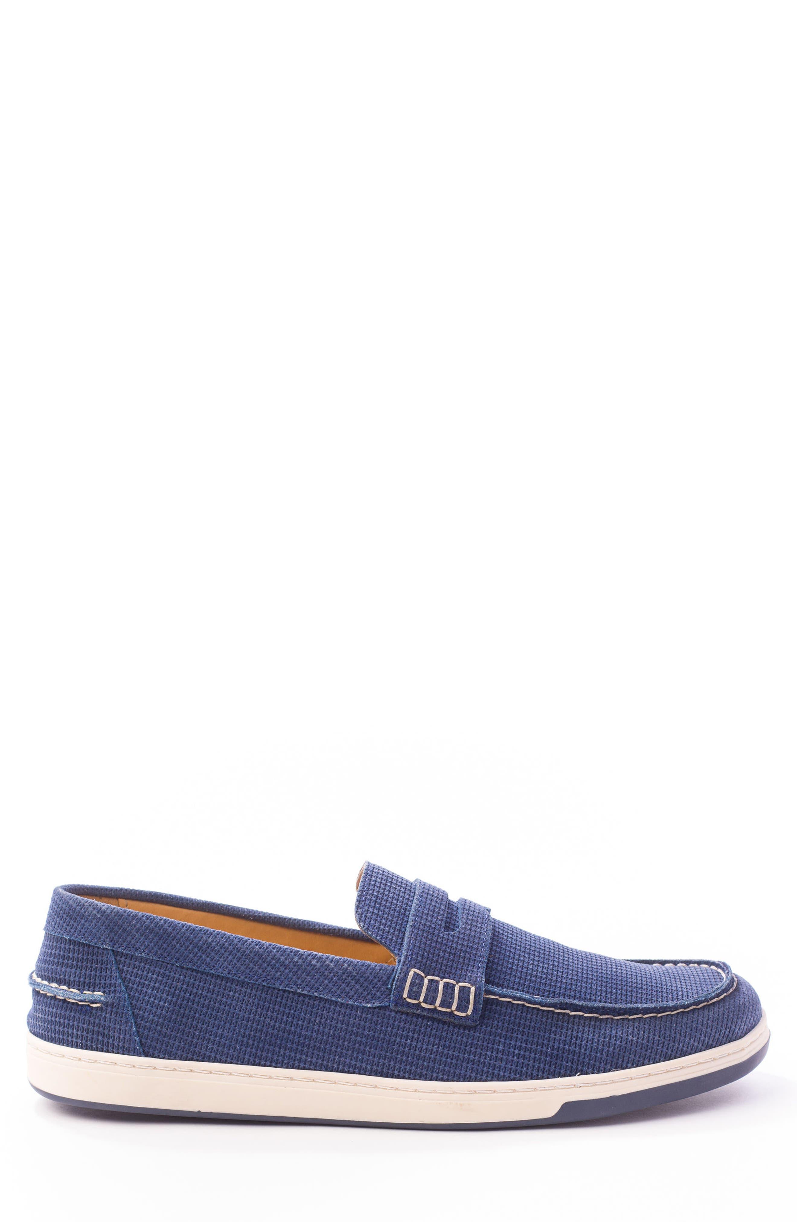 Bradford Embossed Penny Loafer Sneaker,                             Alternate thumbnail 3, color,                             DARK INDIGO