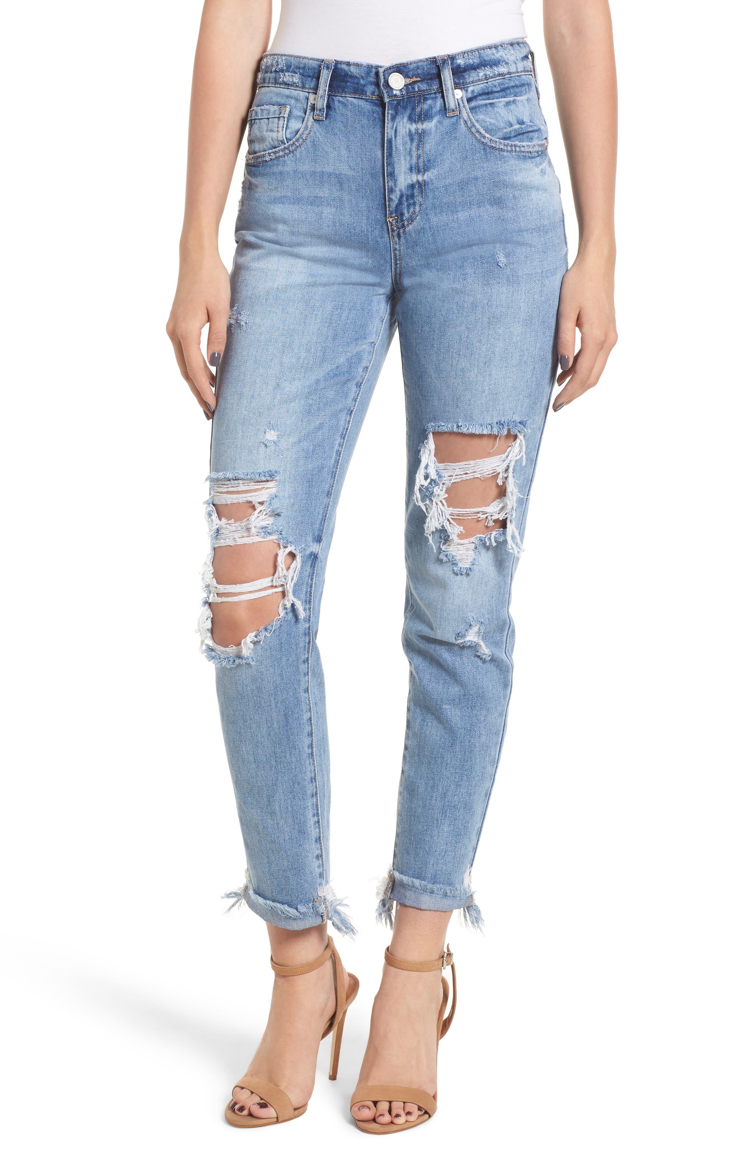 The Rivington Ripped Straight Leg Jeans,                             Main thumbnail 1, color,                             420