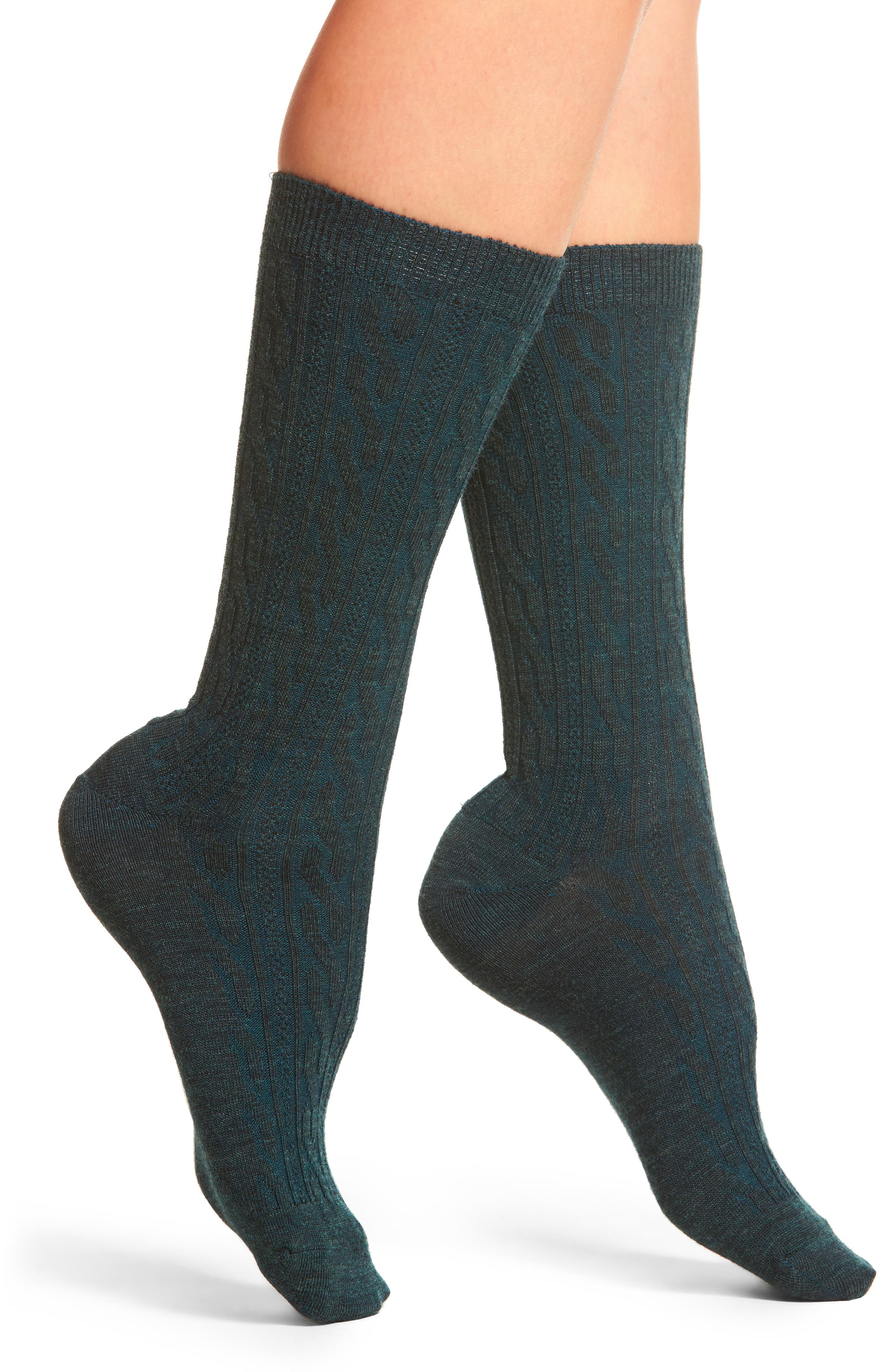 Cable Crew Socks,                         Main,                         color,