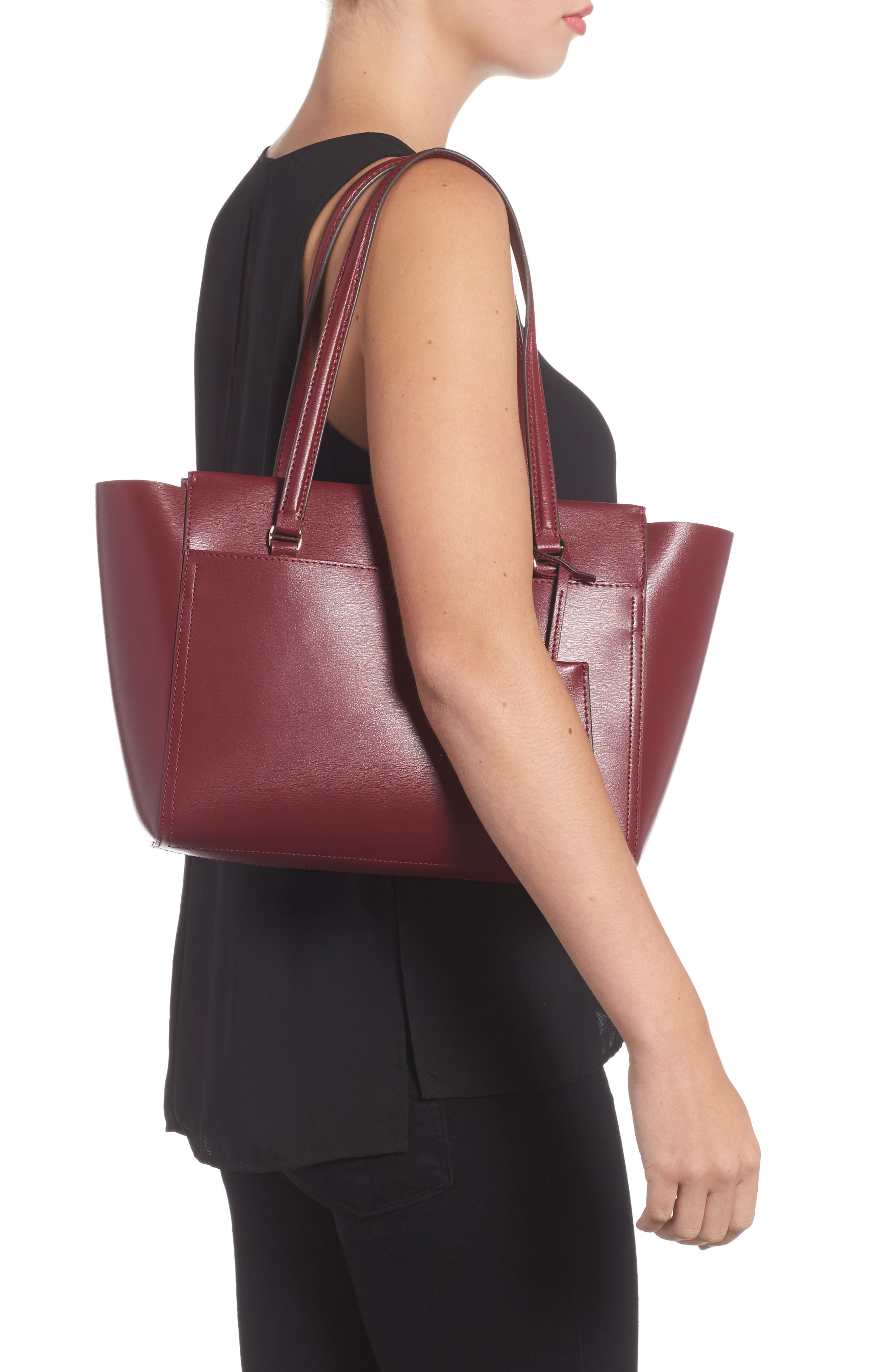 Small Parker Leather Tote,                             Alternate thumbnail 2, color,                             930
