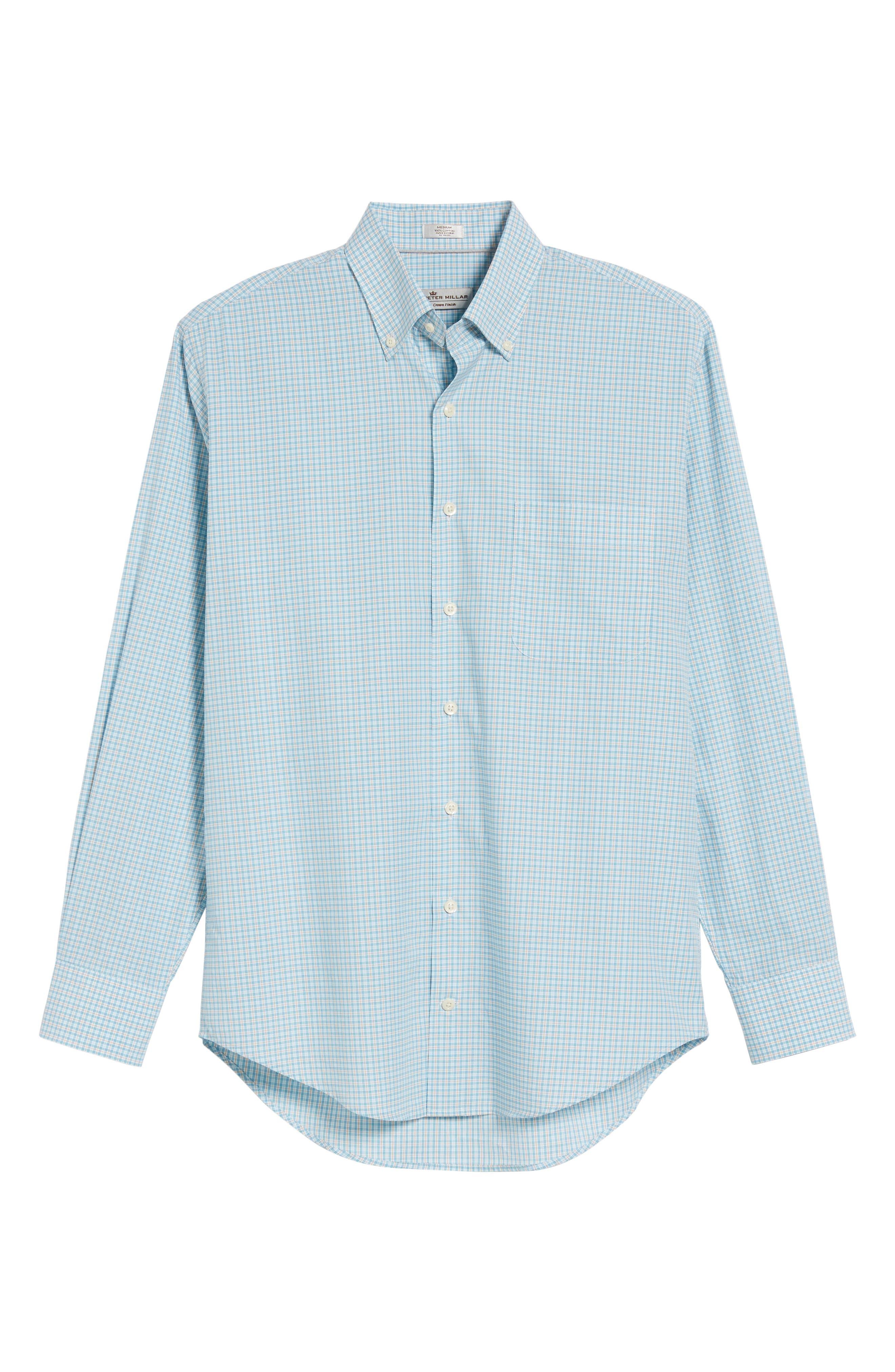 Crown Finish Regular Fit Check Sport Shirt,                             Alternate thumbnail 11, color,