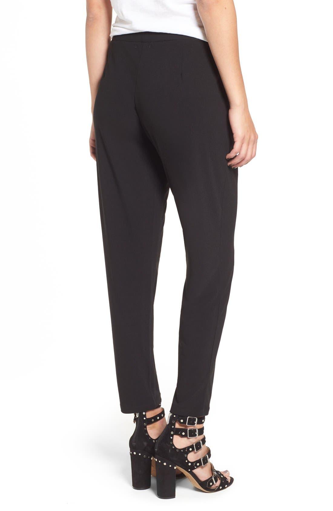 Pleat Front Trousers,                             Alternate thumbnail 9, color,                             BLACK