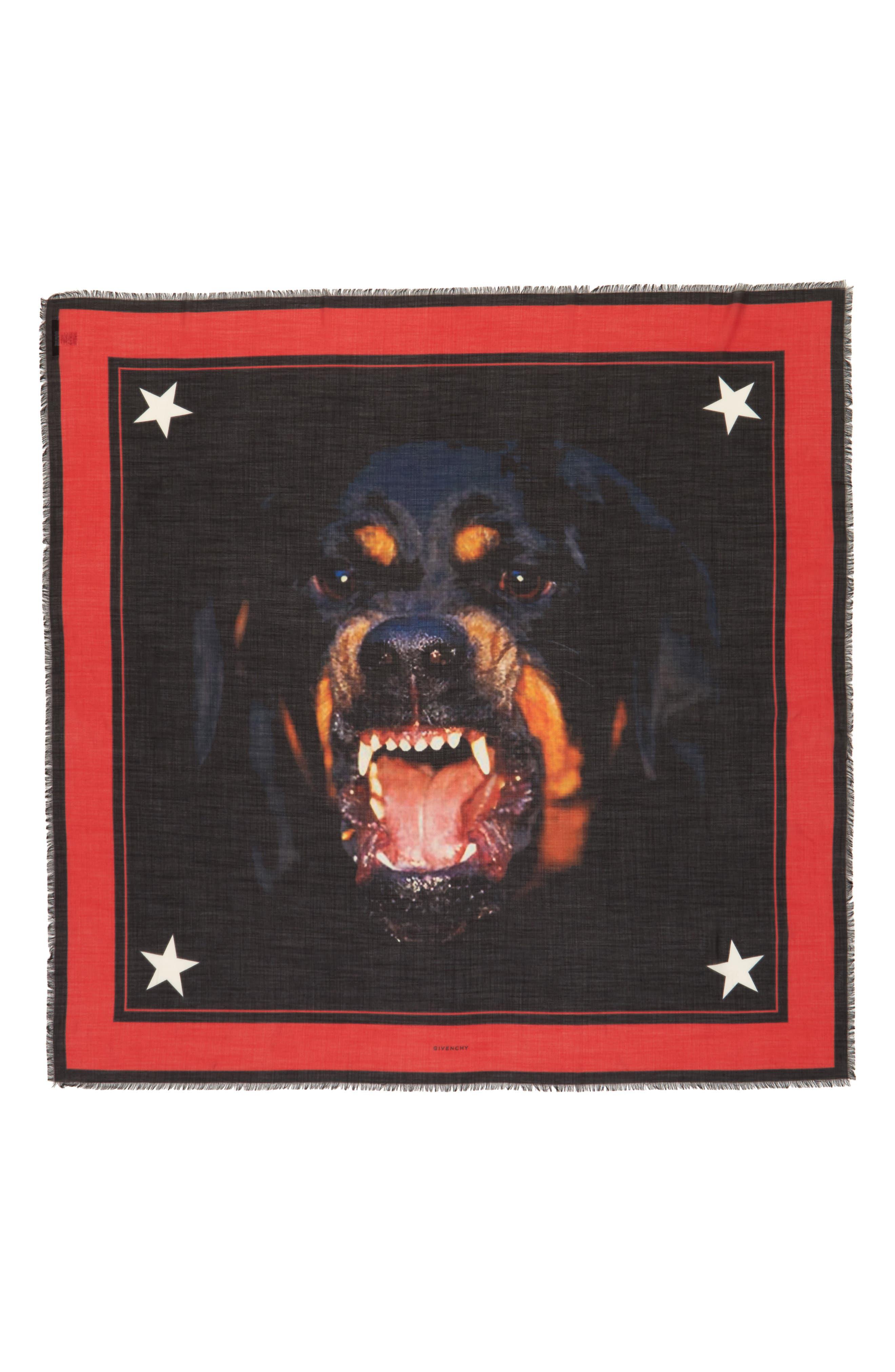 'Rottweiler' Silk Blend Scarf,                             Main thumbnail 1, color,