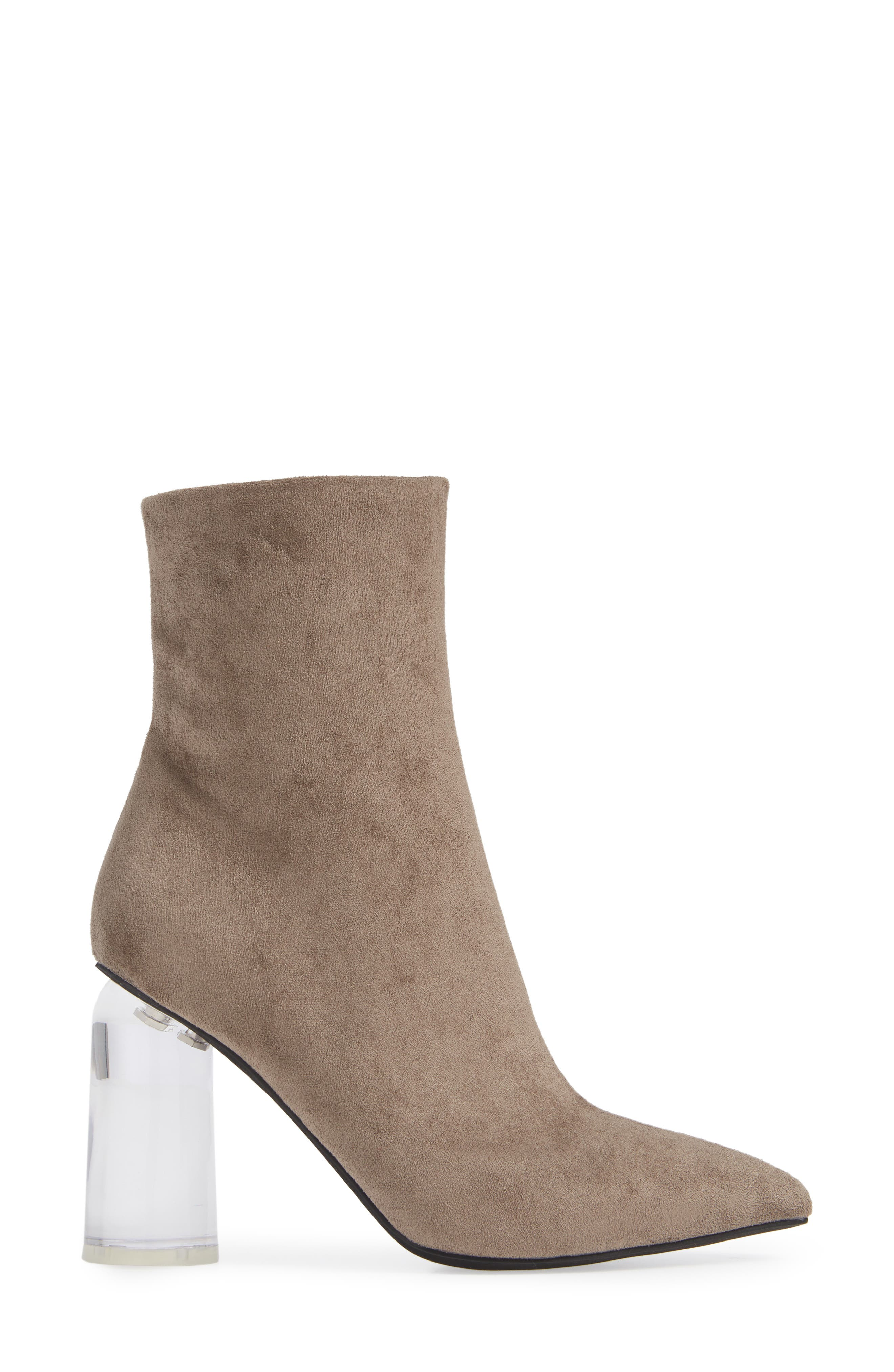 Lustful Bootie,                             Alternate thumbnail 3, color,                             TAUPE SUEDE