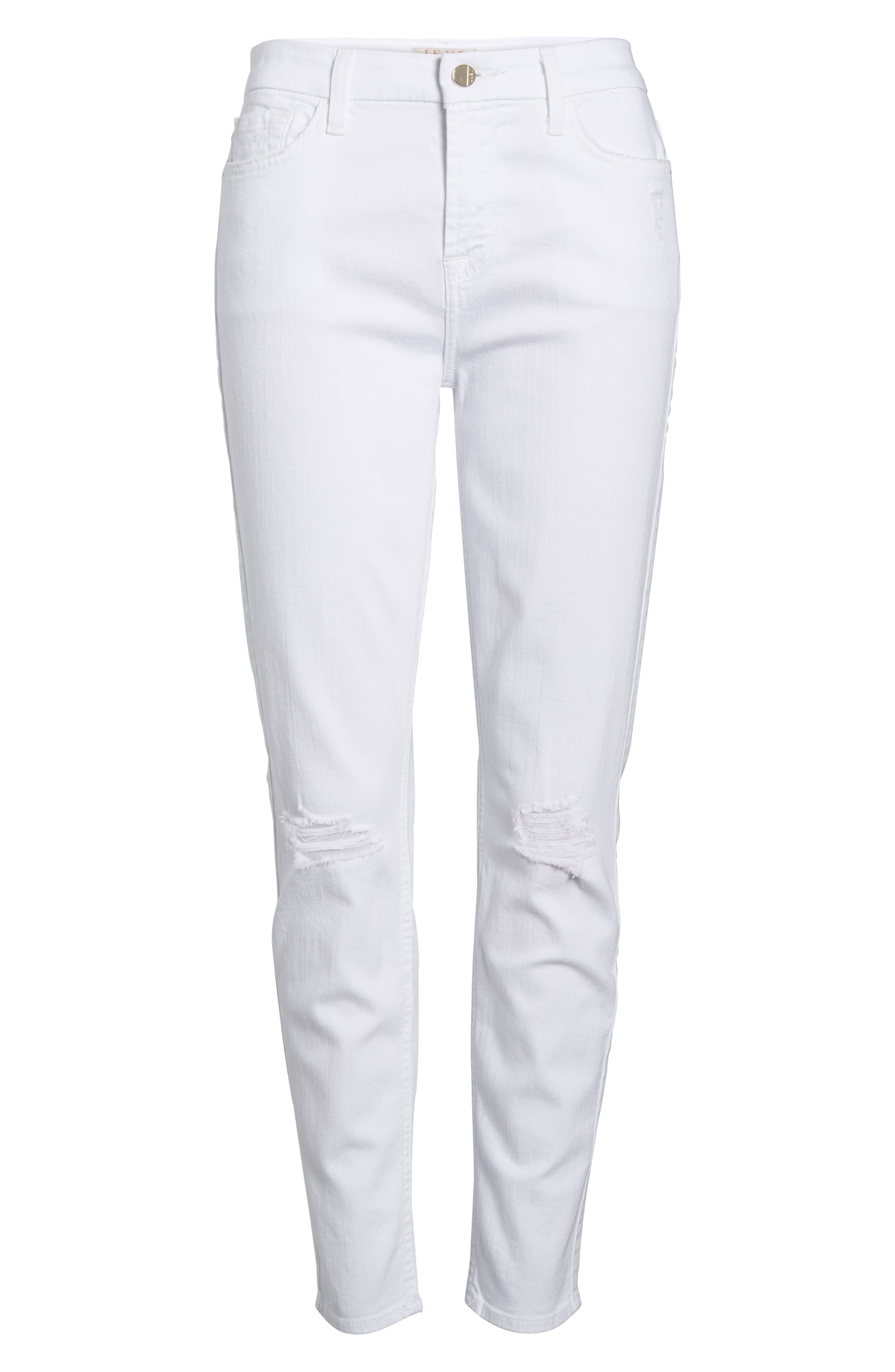 JEN7 BY 7 FOR ALL MANKIND,                             Ankle Skinny Jeans,                             Alternate thumbnail 6, color,                             WHITE 2