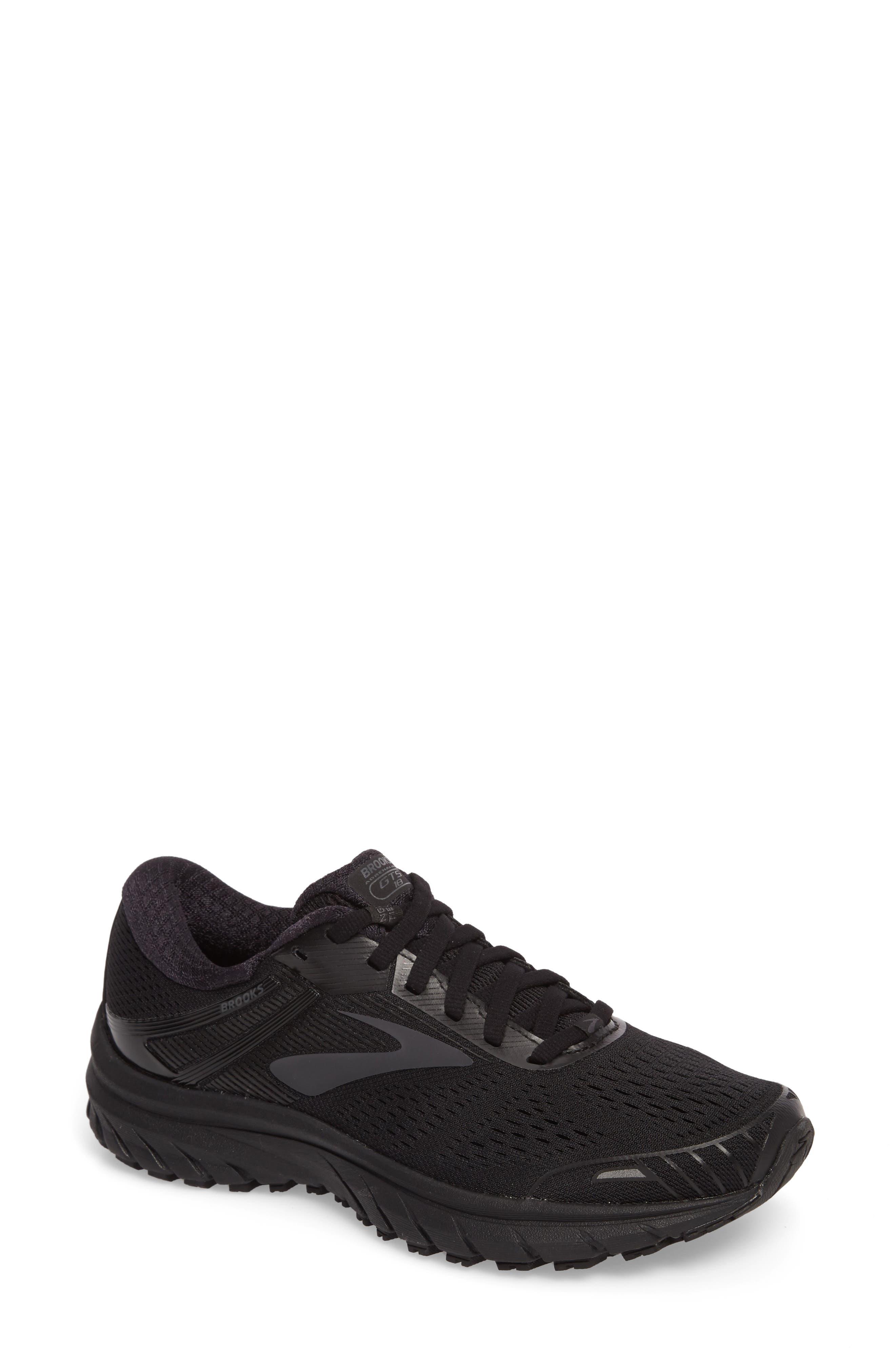 Adrenaline GTS 18 Running Shoe,                             Main thumbnail 1, color,                             BLACK/ BLACK