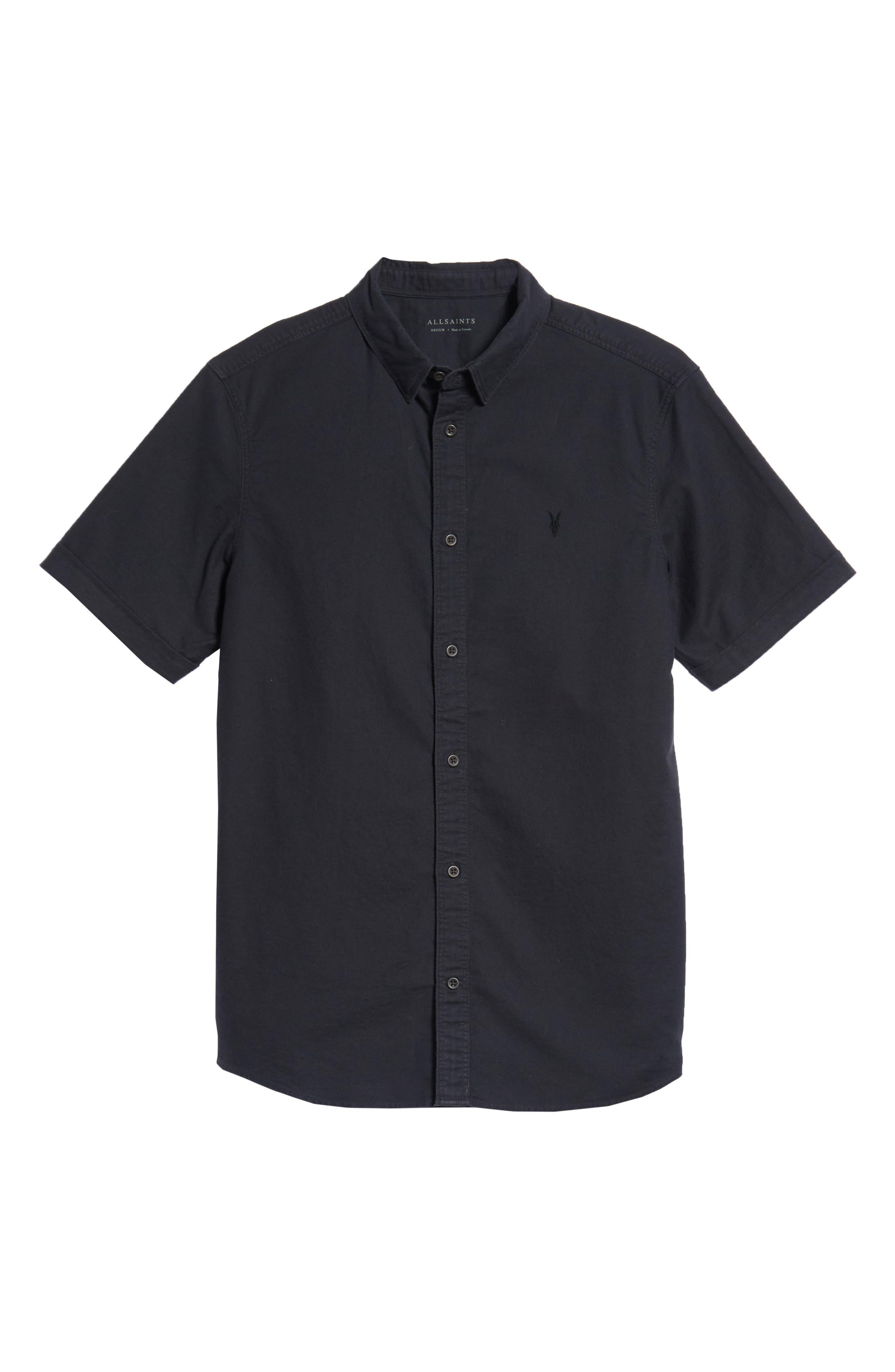 Huntington Regular Fit Short Sleeve Sport Shirt,                             Alternate thumbnail 23, color,