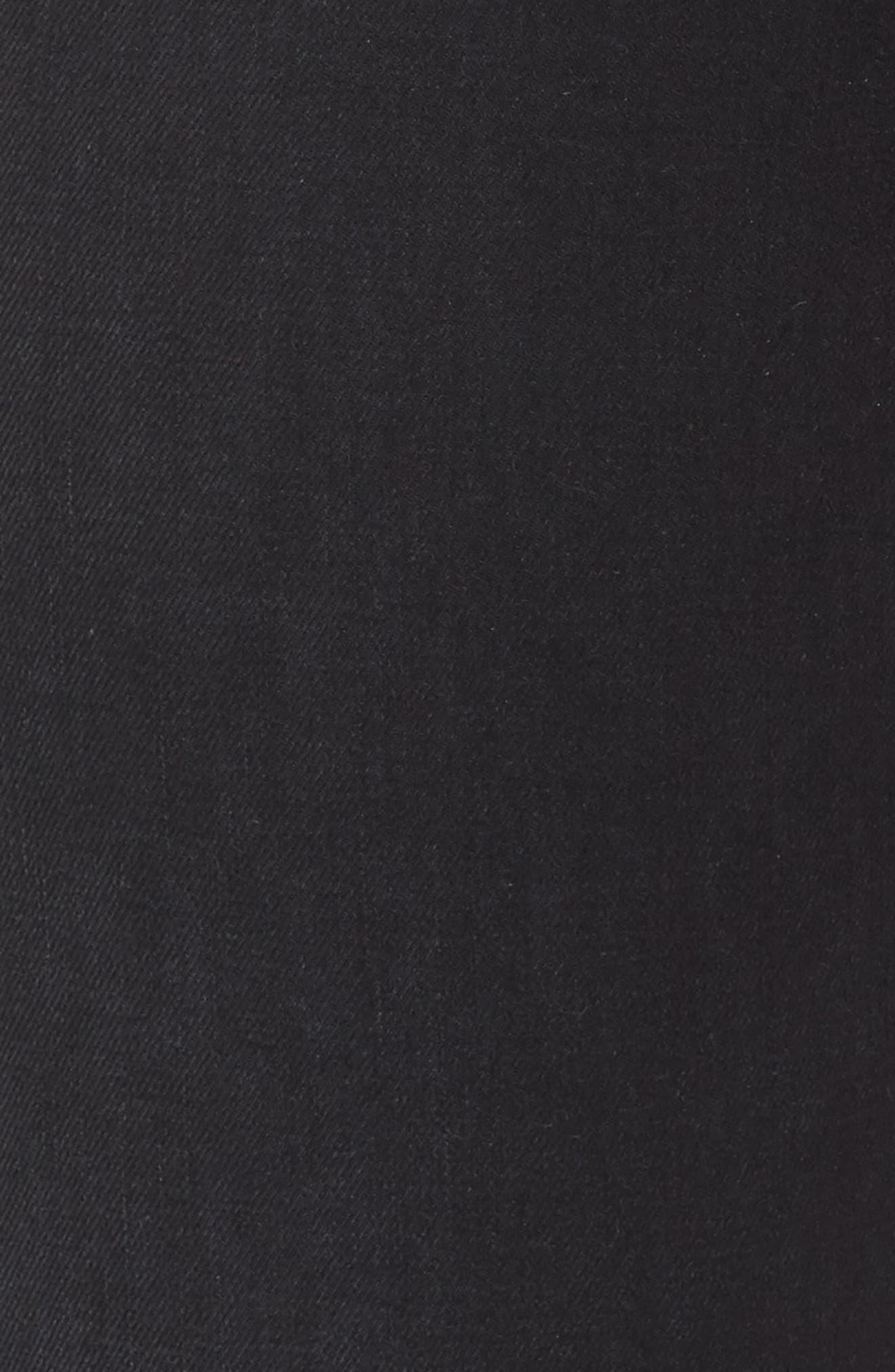 Good Waist Grommet Detail Skinny Jeans,                             Alternate thumbnail 5, color,                             001