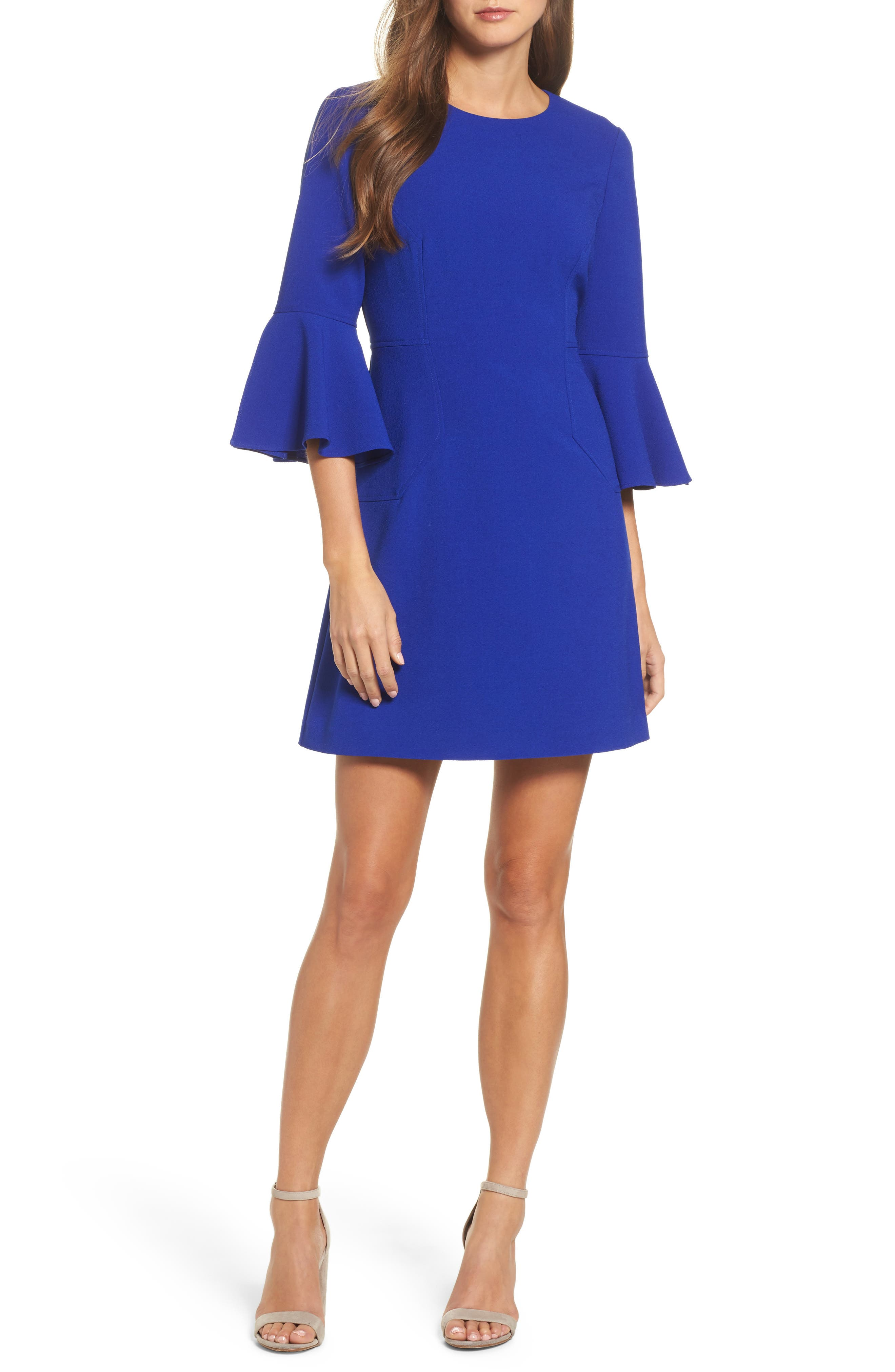 Bell Sleeve Dress,                             Main thumbnail 1, color,                             430