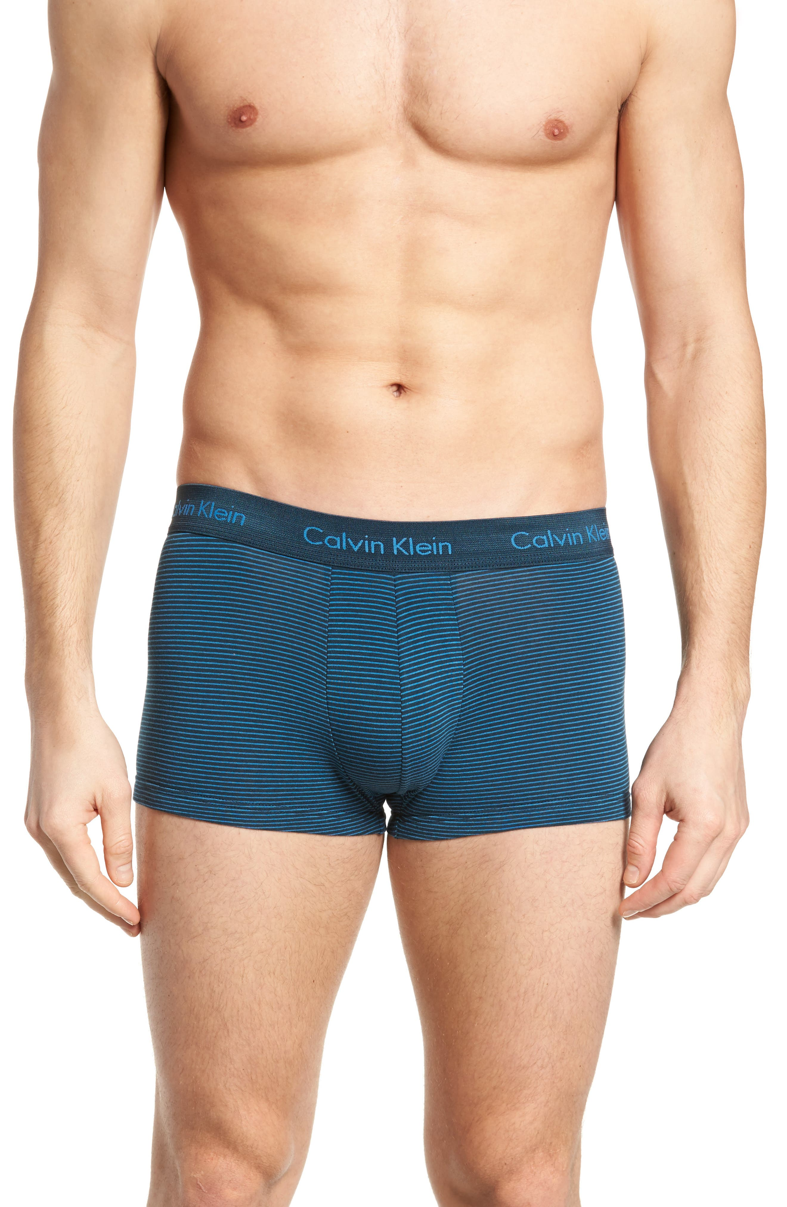 3-Pack Stretch Cotton Low Rise Trunks,                             Alternate thumbnail 2, color,                             BLUE/ SPELLBOUND/ FERVENT