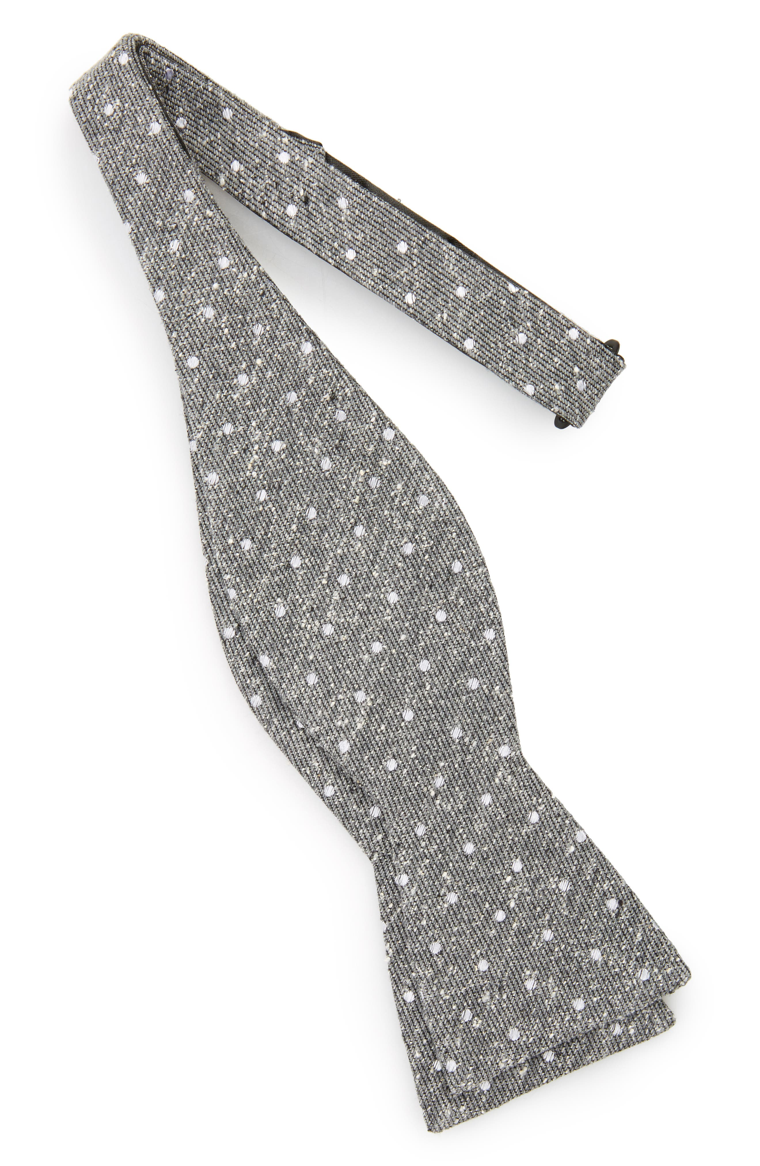 Knotted Dots Silk Bow Tie,                             Alternate thumbnail 2, color,                             030