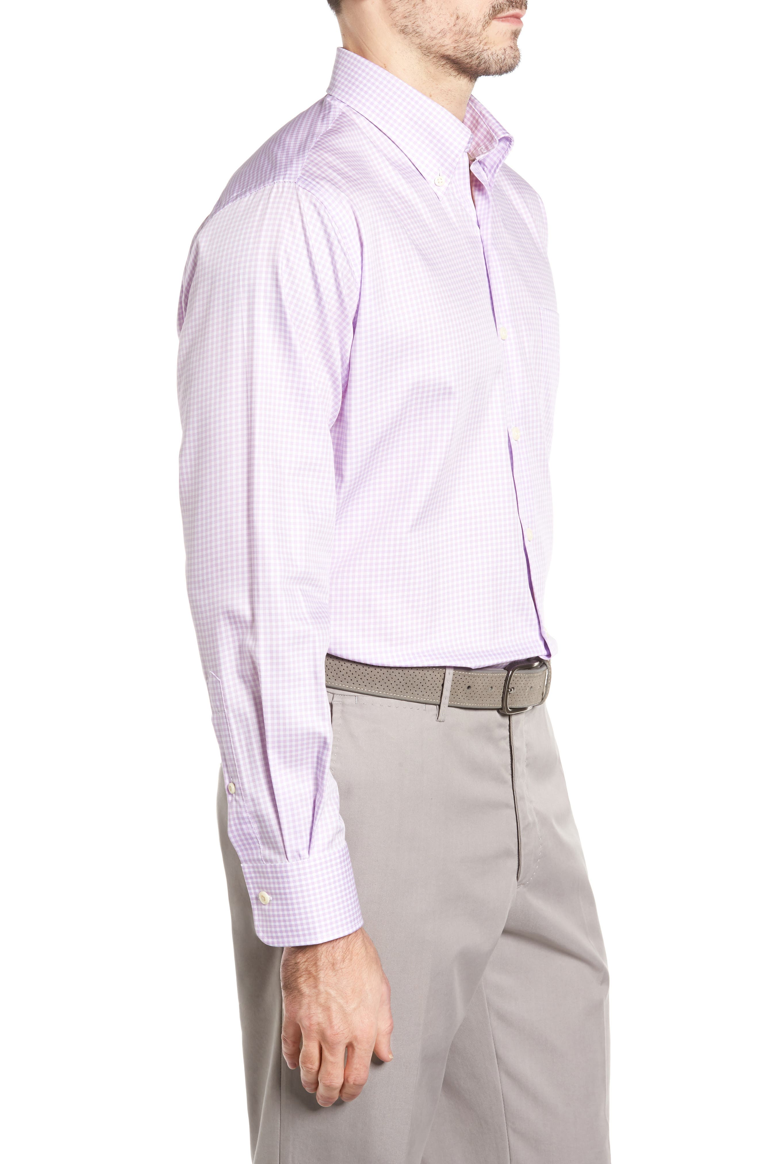 Crown Soft Gingham Regular Fit Sport Shirt,                             Alternate thumbnail 16, color,