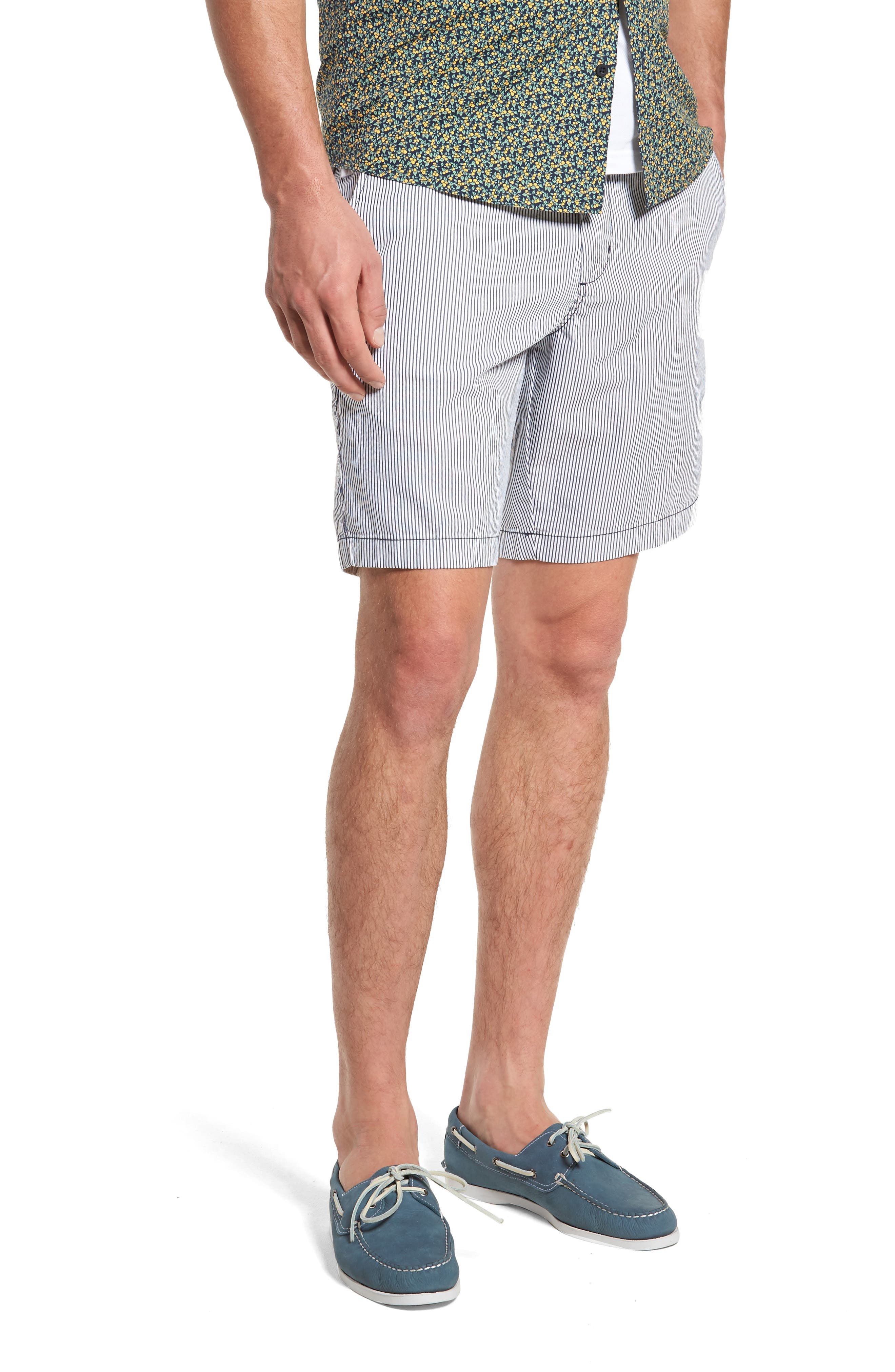 Ballard Slim Fit Seersucker Shorts,                             Main thumbnail 1, color,