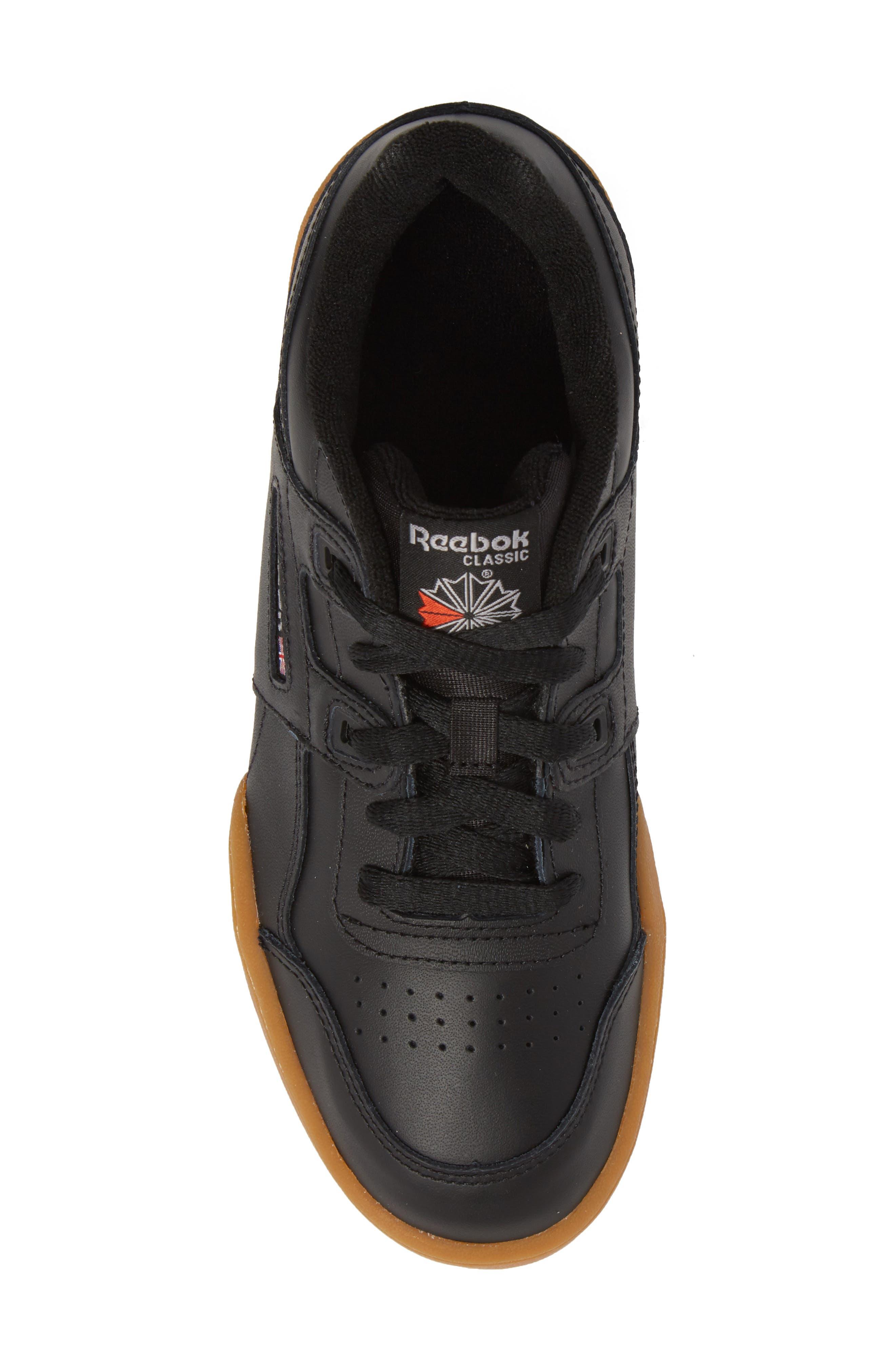 Workout Plus Sneaker,                             Alternate thumbnail 5, color,                             BLACK
